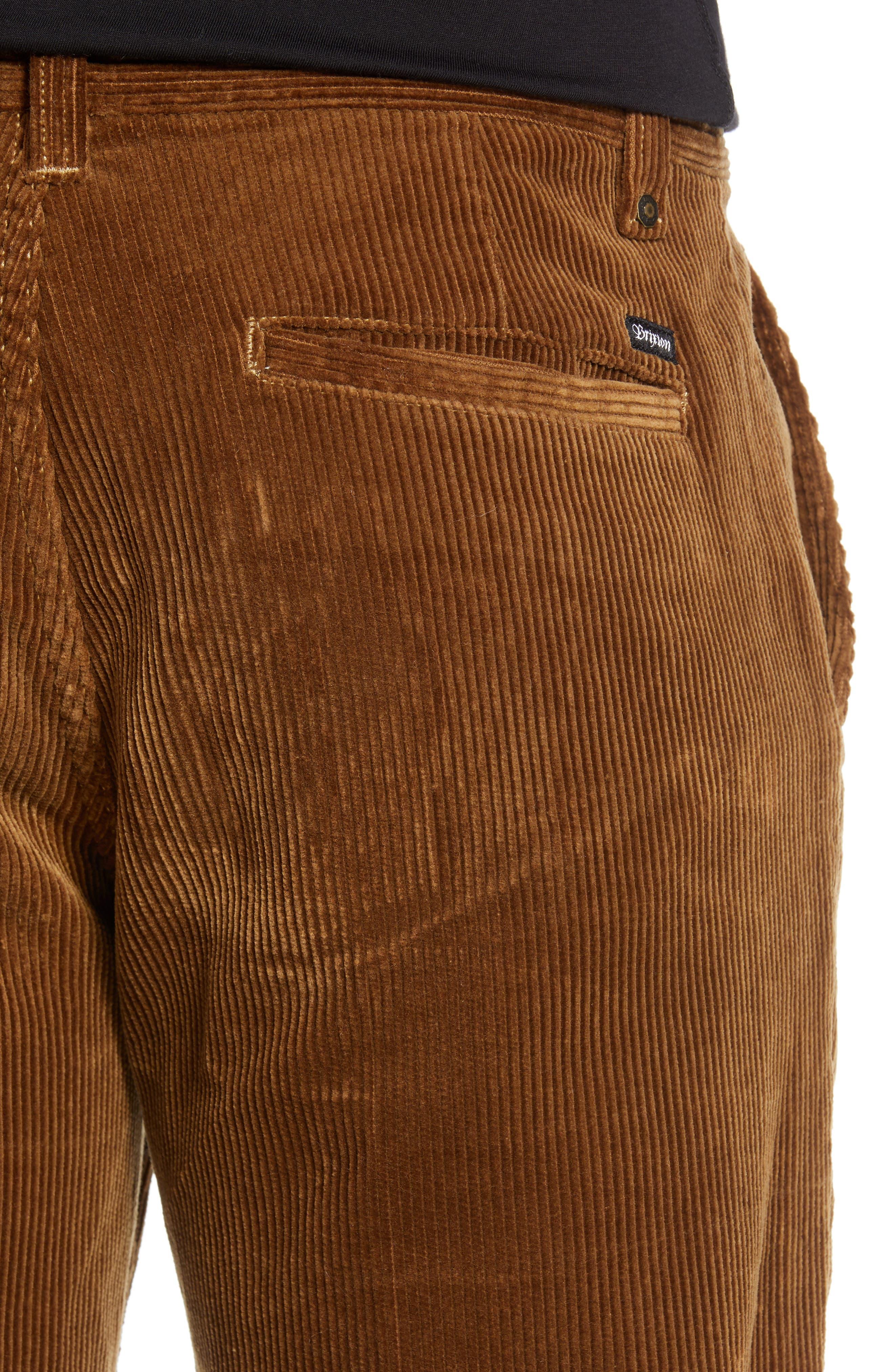 Fleet Rigid Chino Corduroy Pants,                             Alternate thumbnail 4, color,                             SIERRA