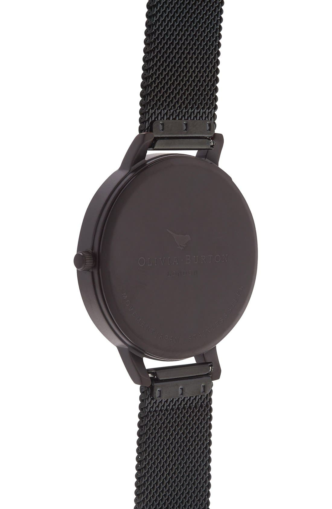 OLIVIA BURTON,                             'Big Dial' Mesh Strap Watch, 38mm,                             Alternate thumbnail 5, color,                             001