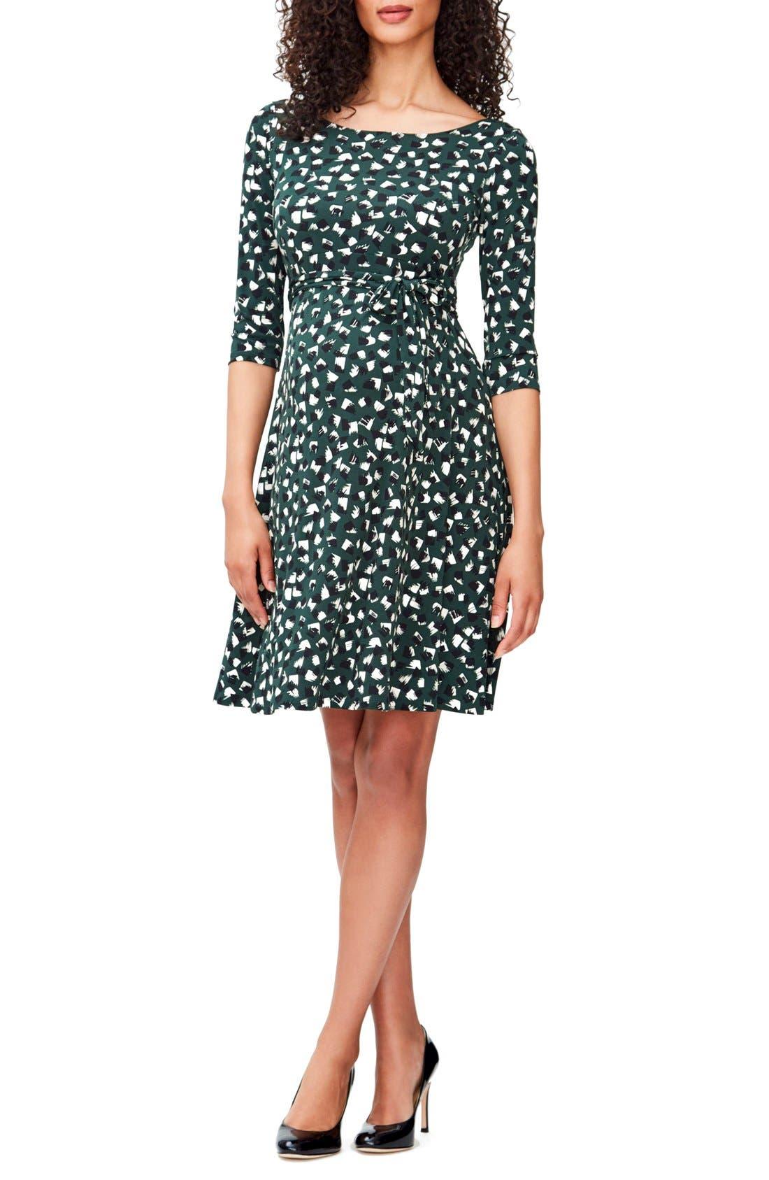 'Ilana' Belted Maternity Dress,                             Main thumbnail 4, color,