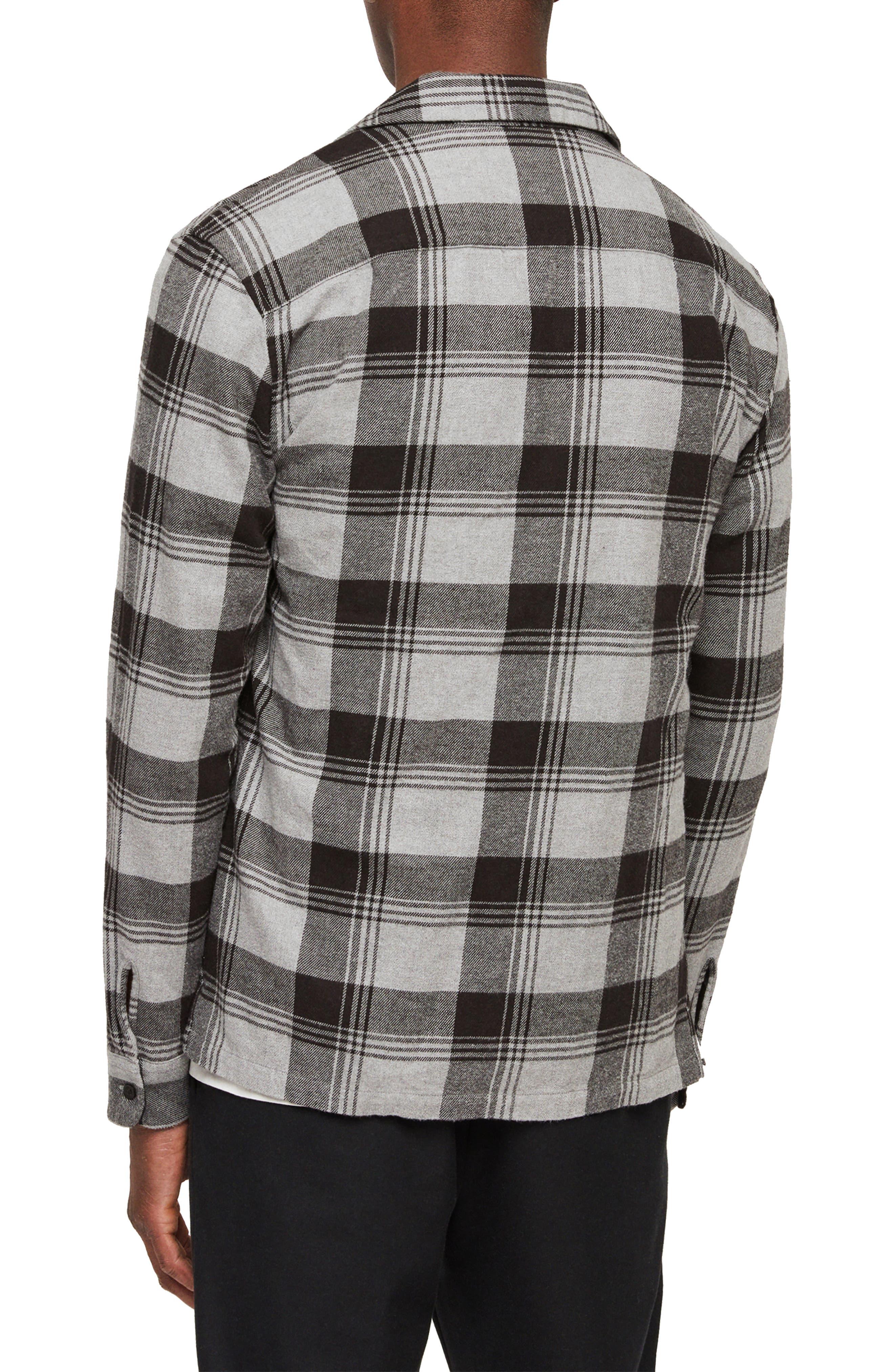 Danby Flannel Shirt Jacket,                             Alternate thumbnail 3, color,                             BLACK/ ECRU WHITE