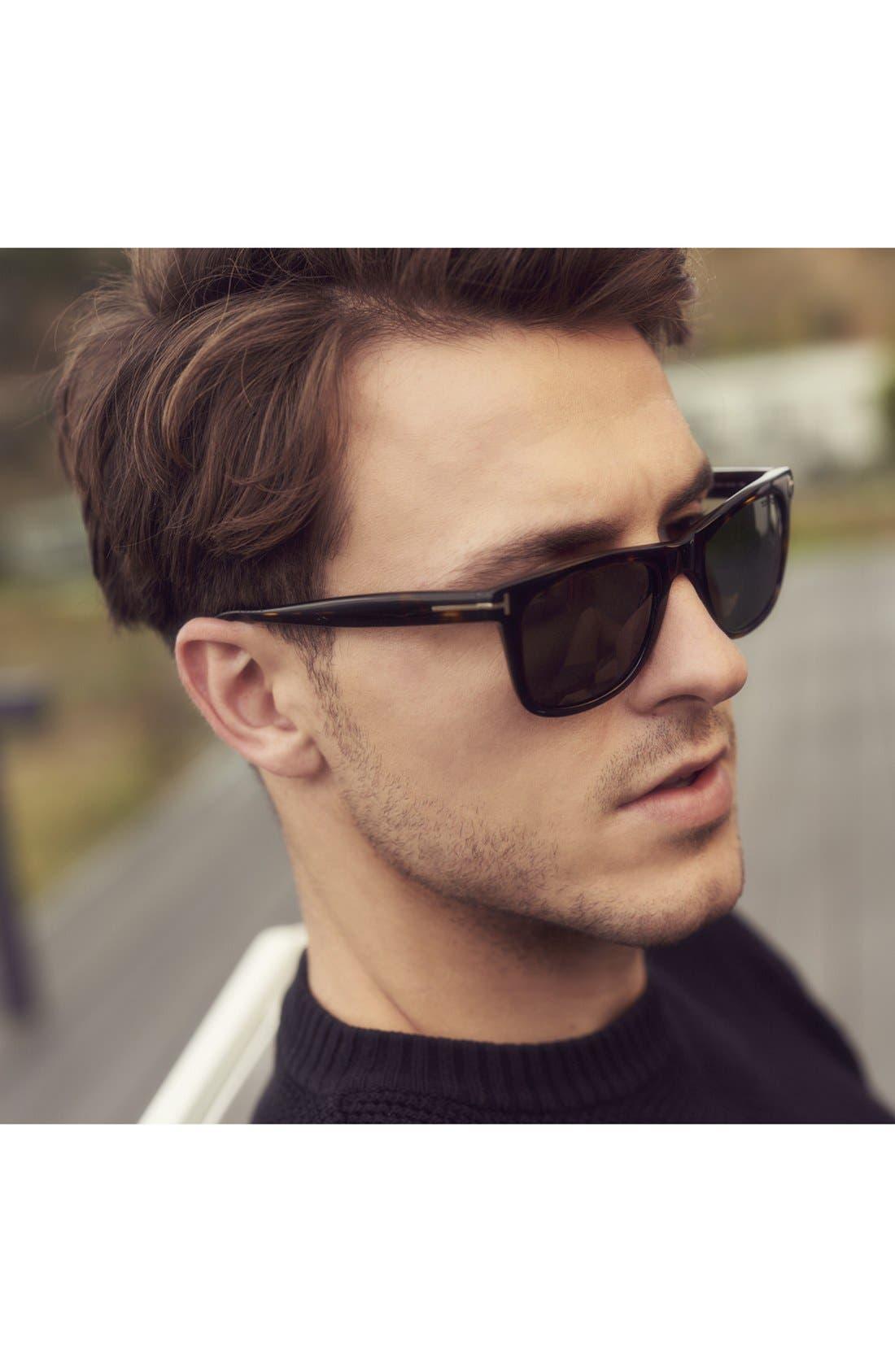 'Leo' 52mm Polarized Sunglasses,                             Alternate thumbnail 3, color,                             SHINY CLASSIC HAVANA