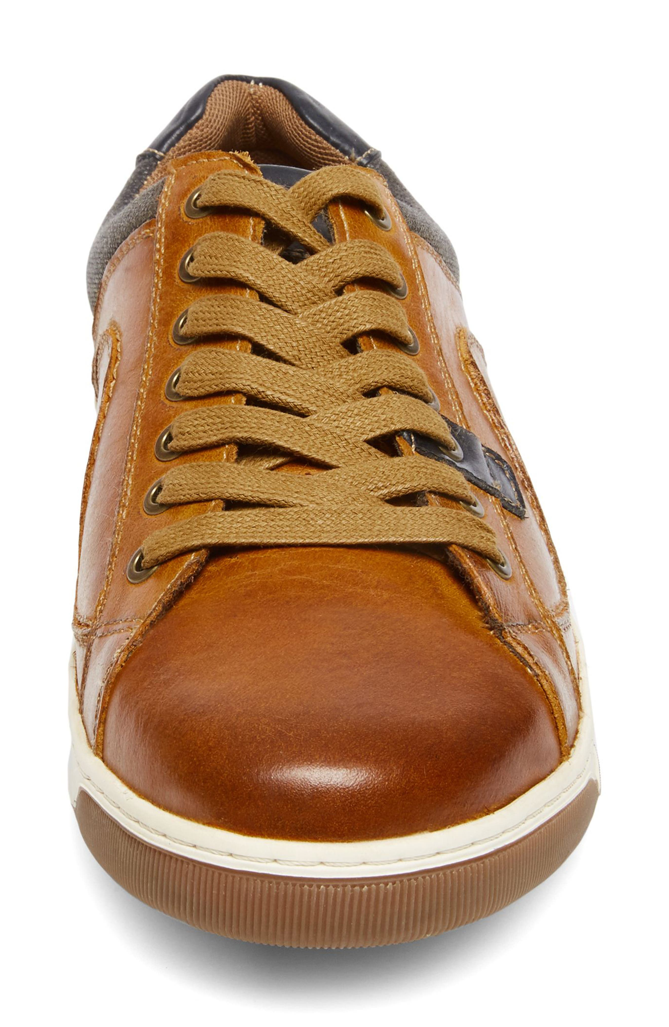 Chater Low Top Sneaker,                             Alternate thumbnail 4, color,                             RUST LEATHER