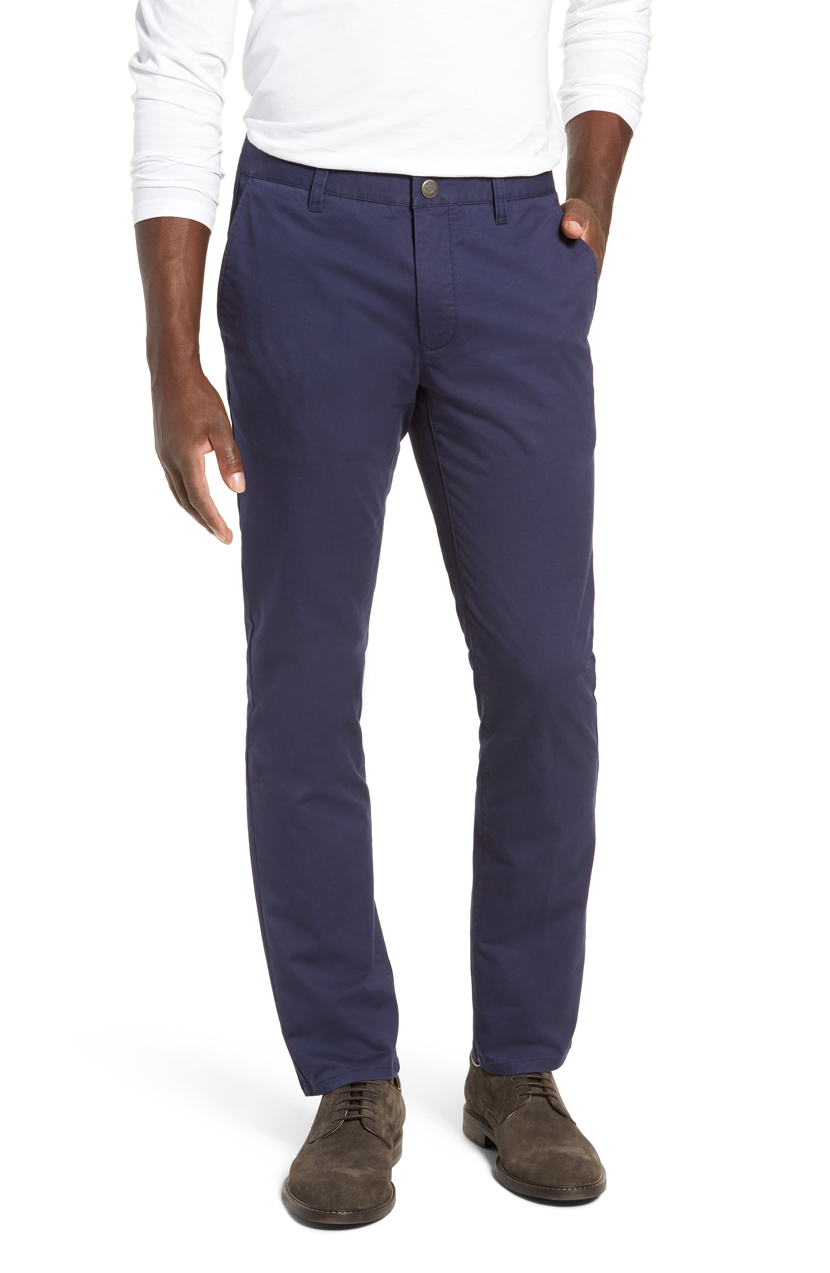 Tailored Fit Washed Stretch Cotton Chinos,                             Main thumbnail 14, color,