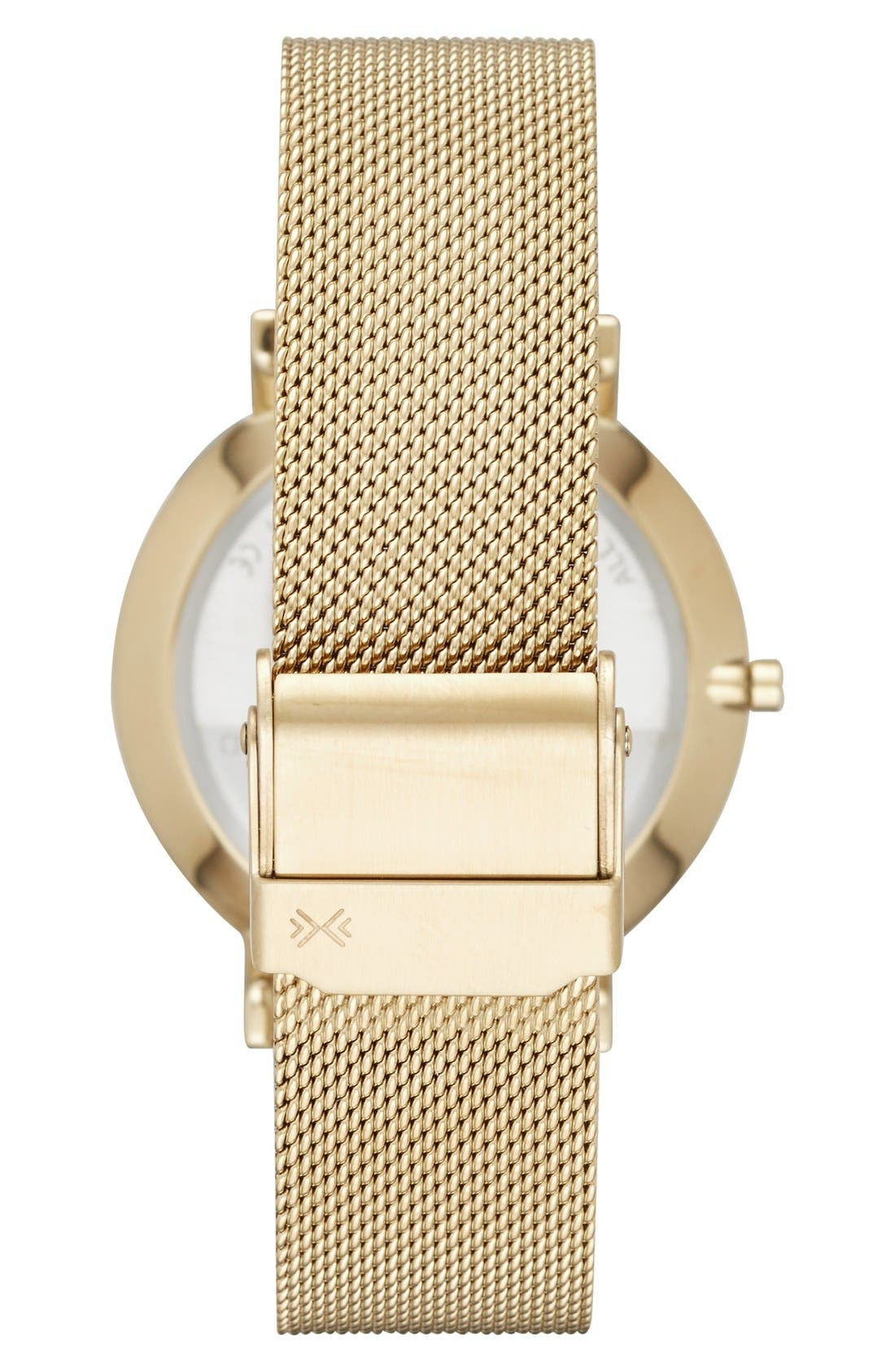 'Hald' Round Mesh Strap Watch, 34mm,                             Alternate thumbnail 2, color,                             710