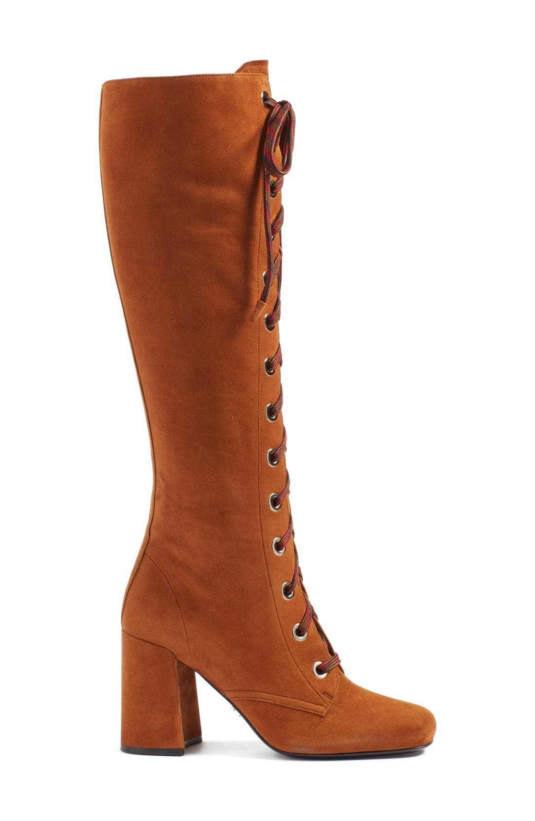 Lace-Up Knee High Boot,                             Alternate thumbnail 4, color,                             200