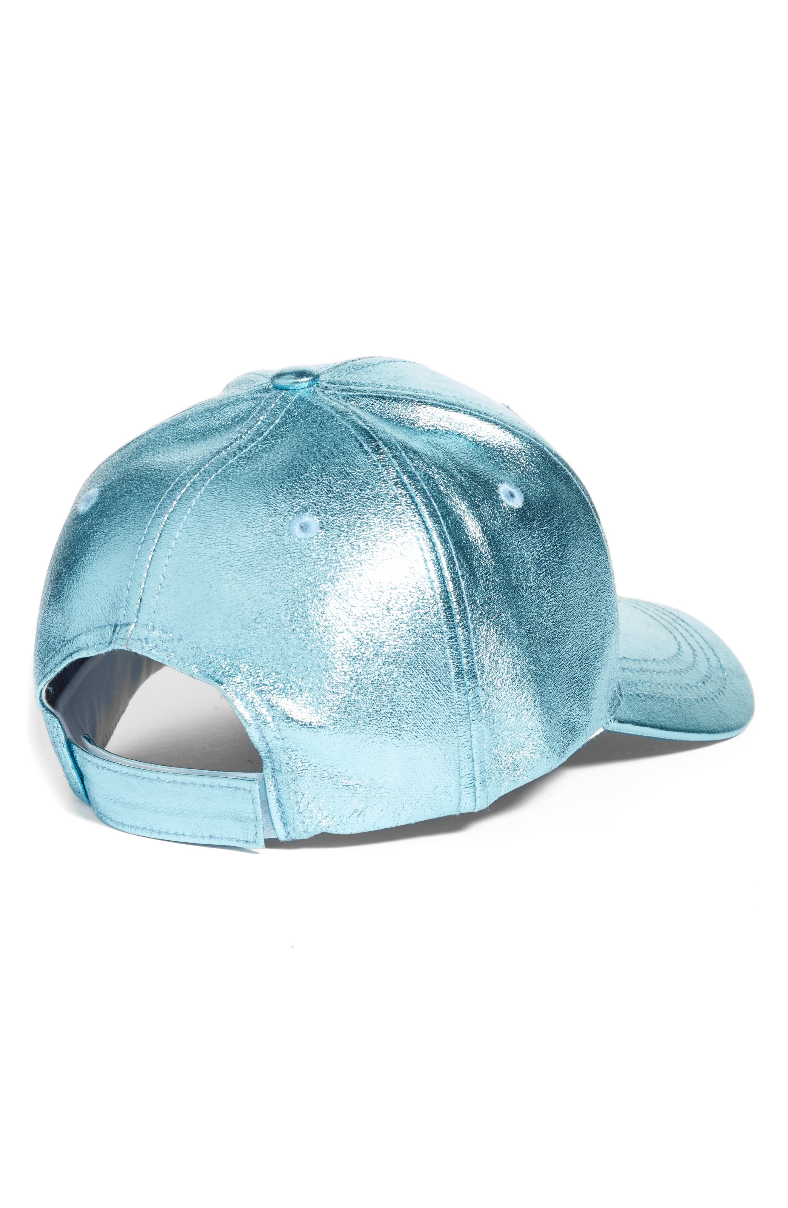Crackled Metallic Baseball Cap,                             Alternate thumbnail 5, color,