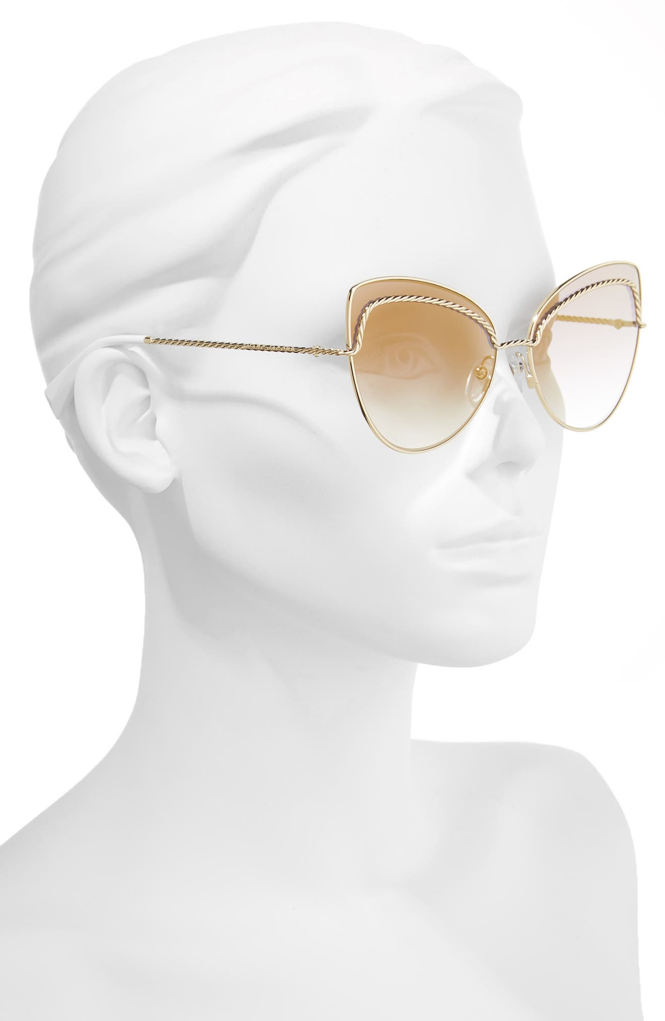 61mm Butterfly Sunglasses,                             Alternate thumbnail 4, color,