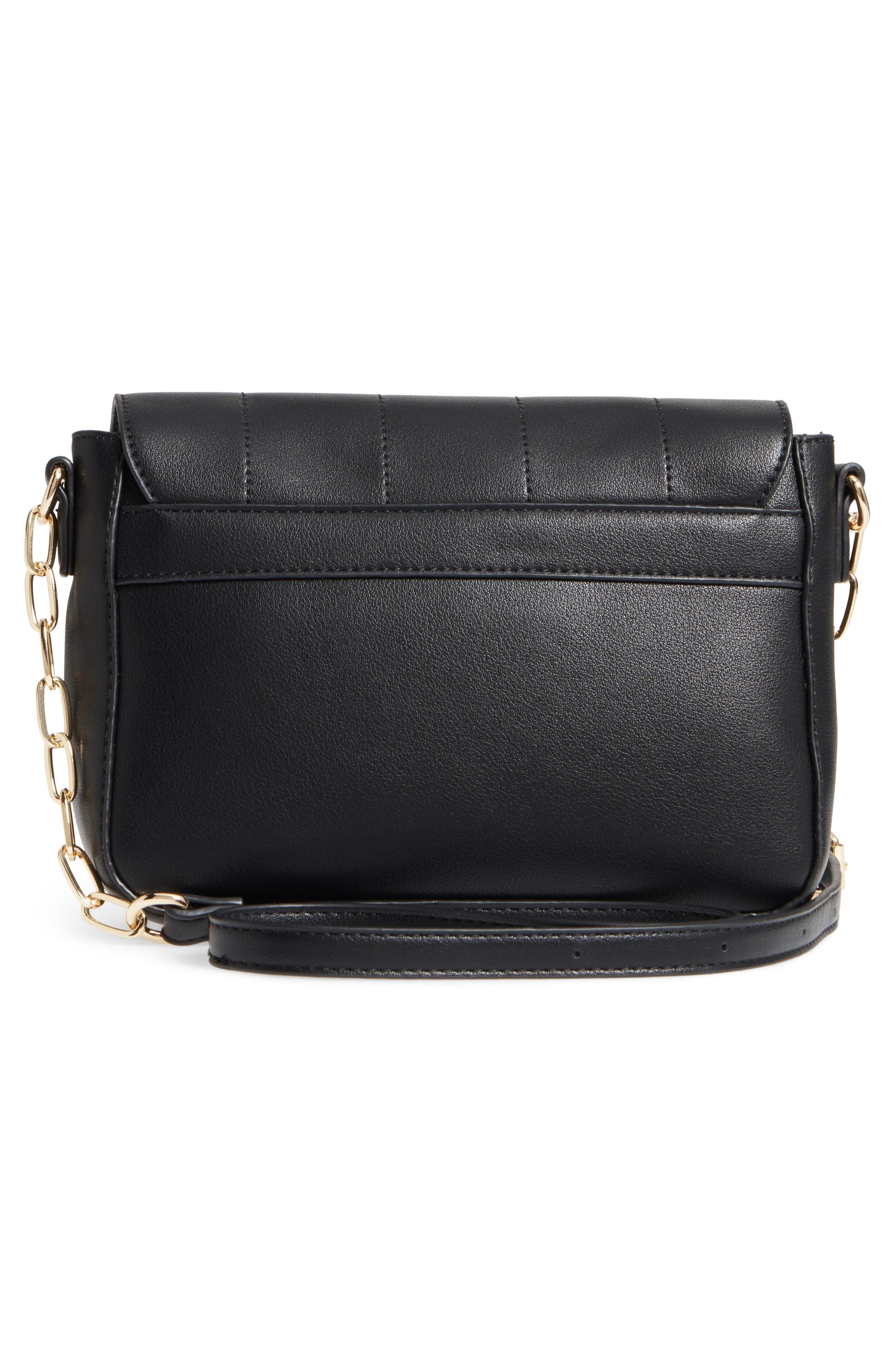 Colie Faux Leather Crossbody Bag,                             Alternate thumbnail 3, color,                             001