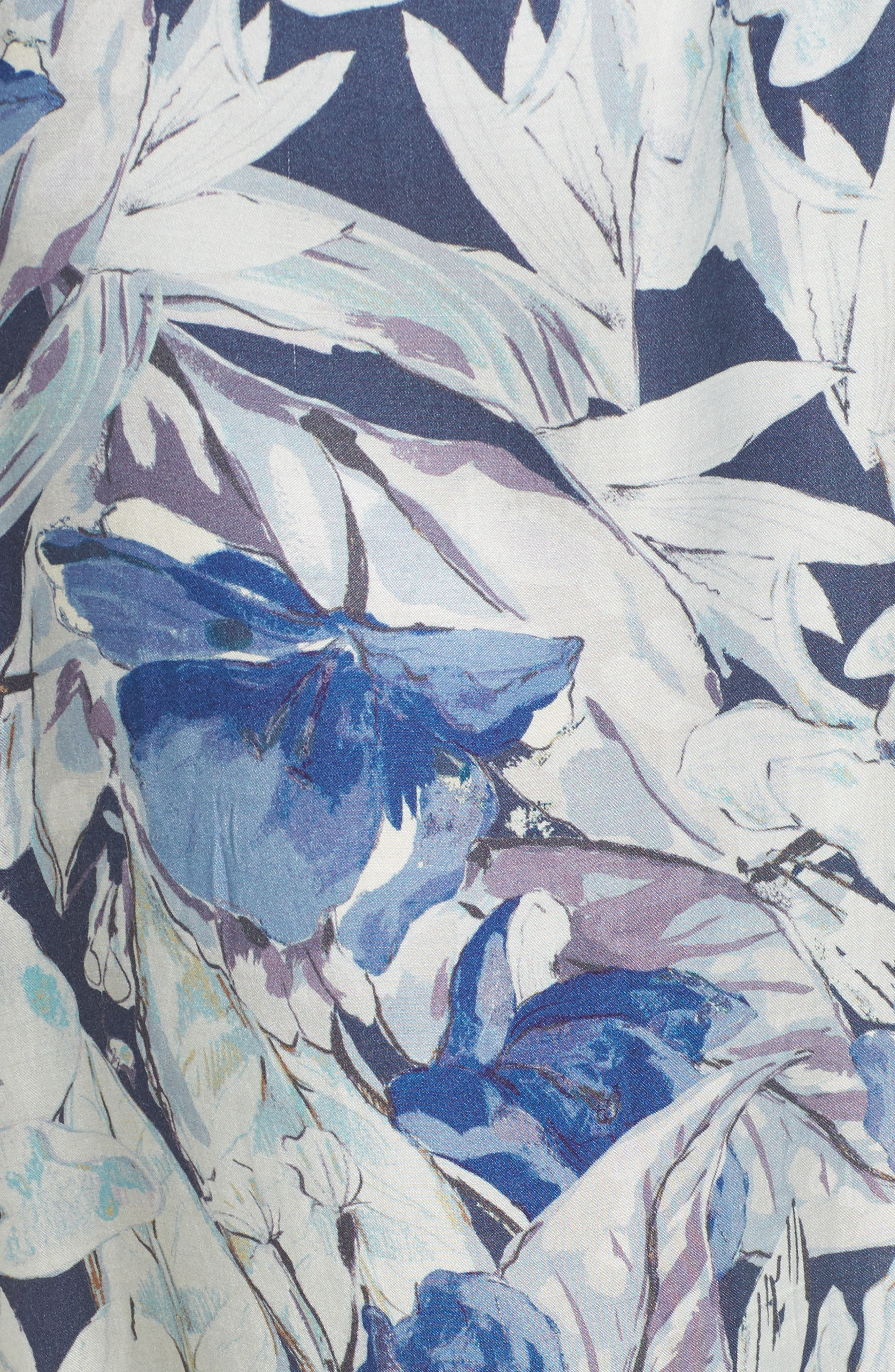 Drucilla Floral Print Duster,                             Alternate thumbnail 6, color,                             400