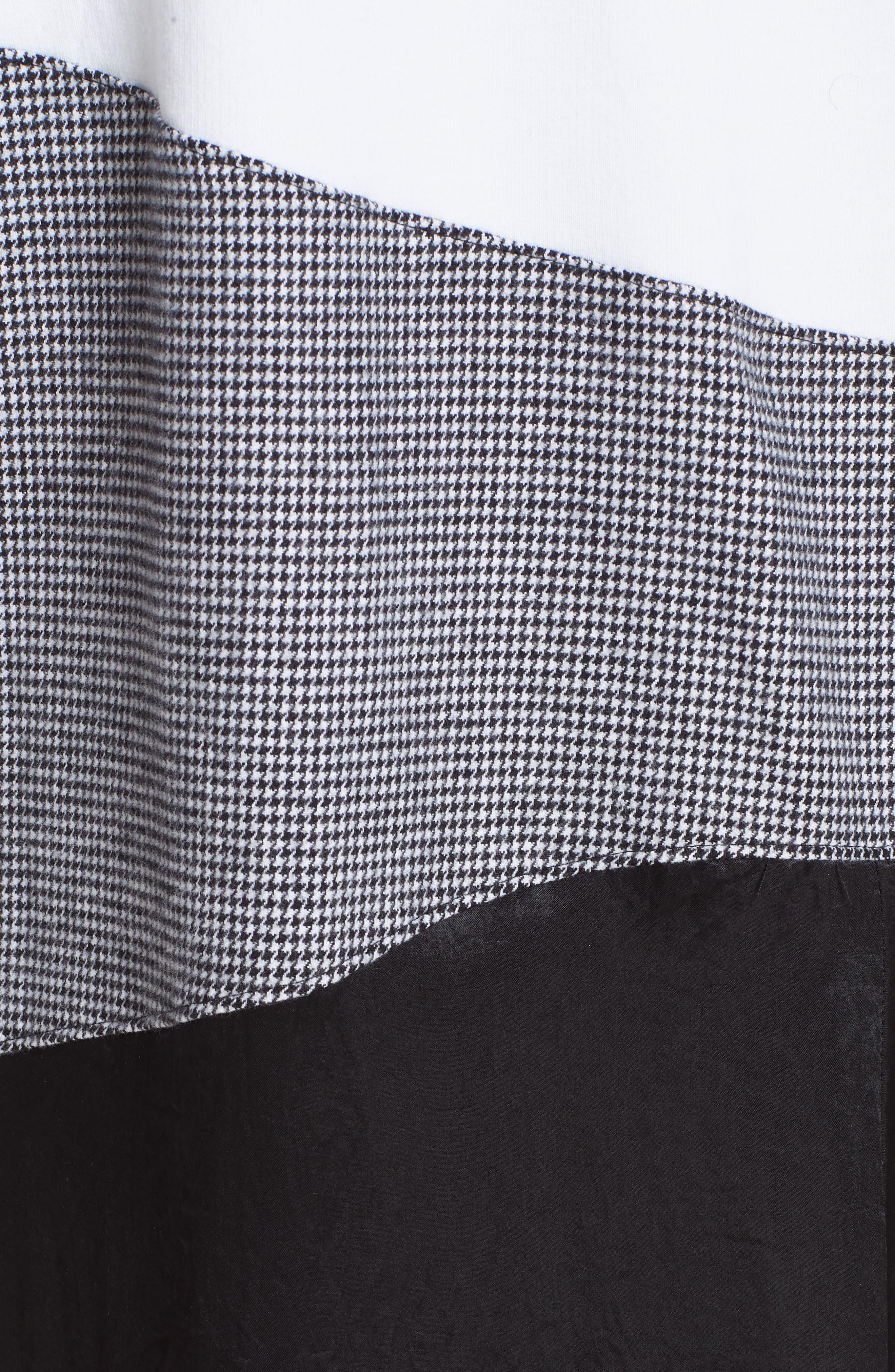 Colorblock Asymmetric Dress,                             Alternate thumbnail 6, color,                             WHITE/ BLACK