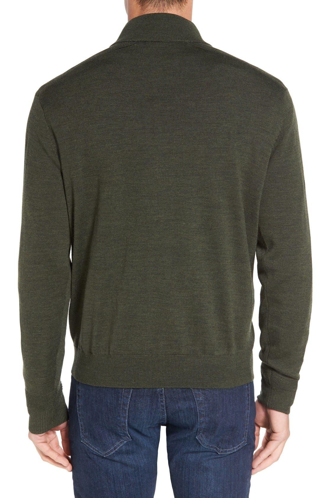 Douglas Quarter Zip Wool Blend Sweater,                             Alternate thumbnail 9, color,