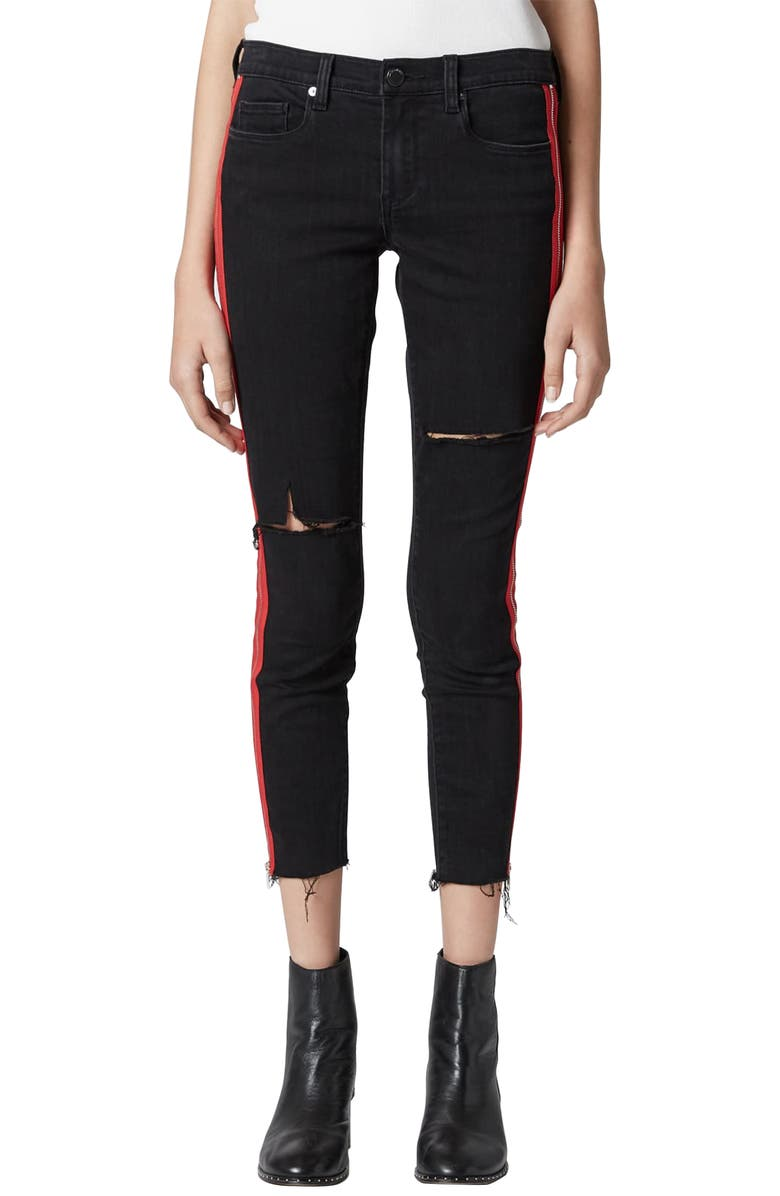 e2c3bf2ba951 BLANKNYC The Bond Side Zip Ripped Skinny Jeans (District 9)