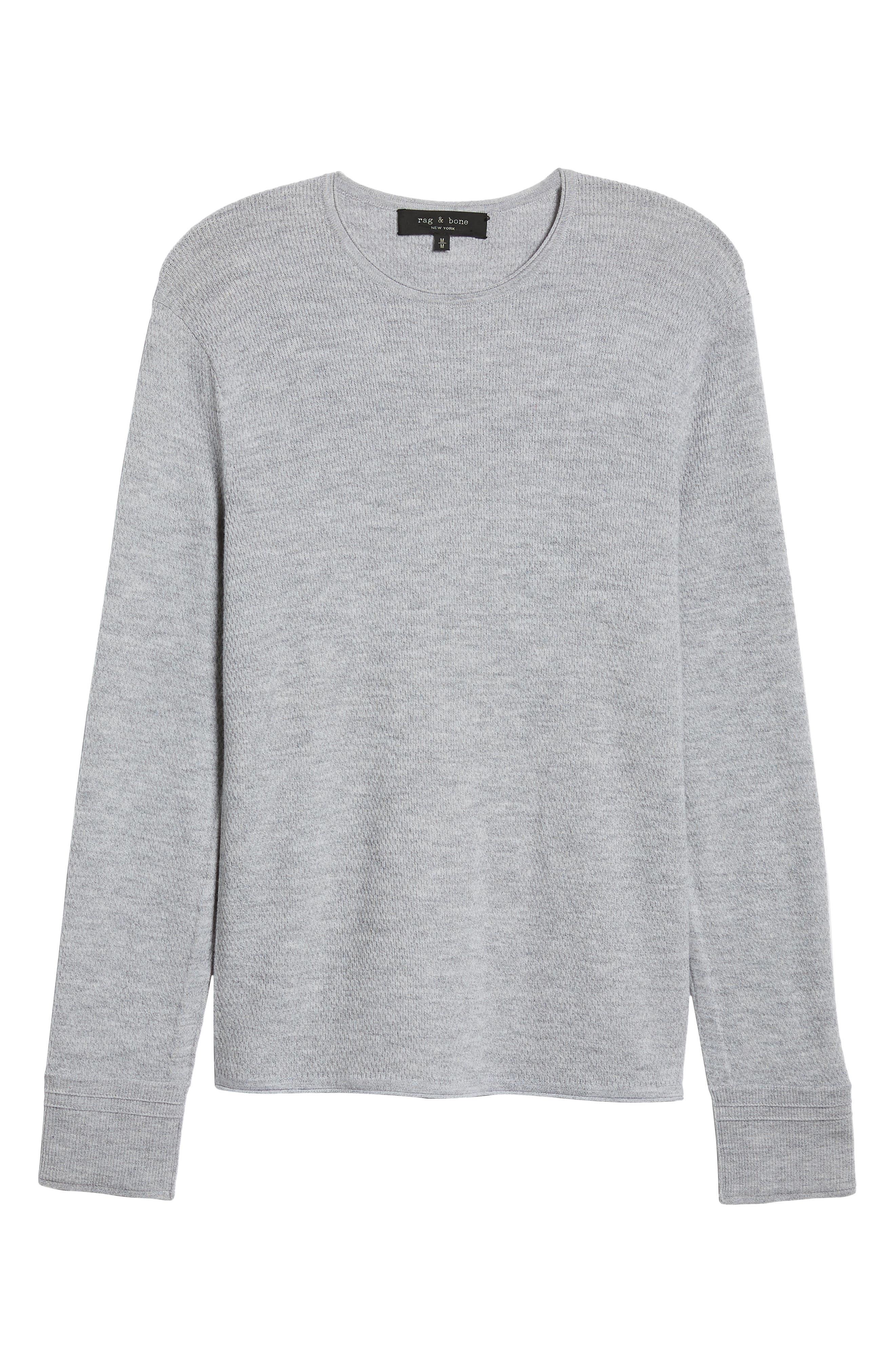 Gregory Merino Wool Blend Crewneck Sweater,                             Alternate thumbnail 6, color,                             GREY