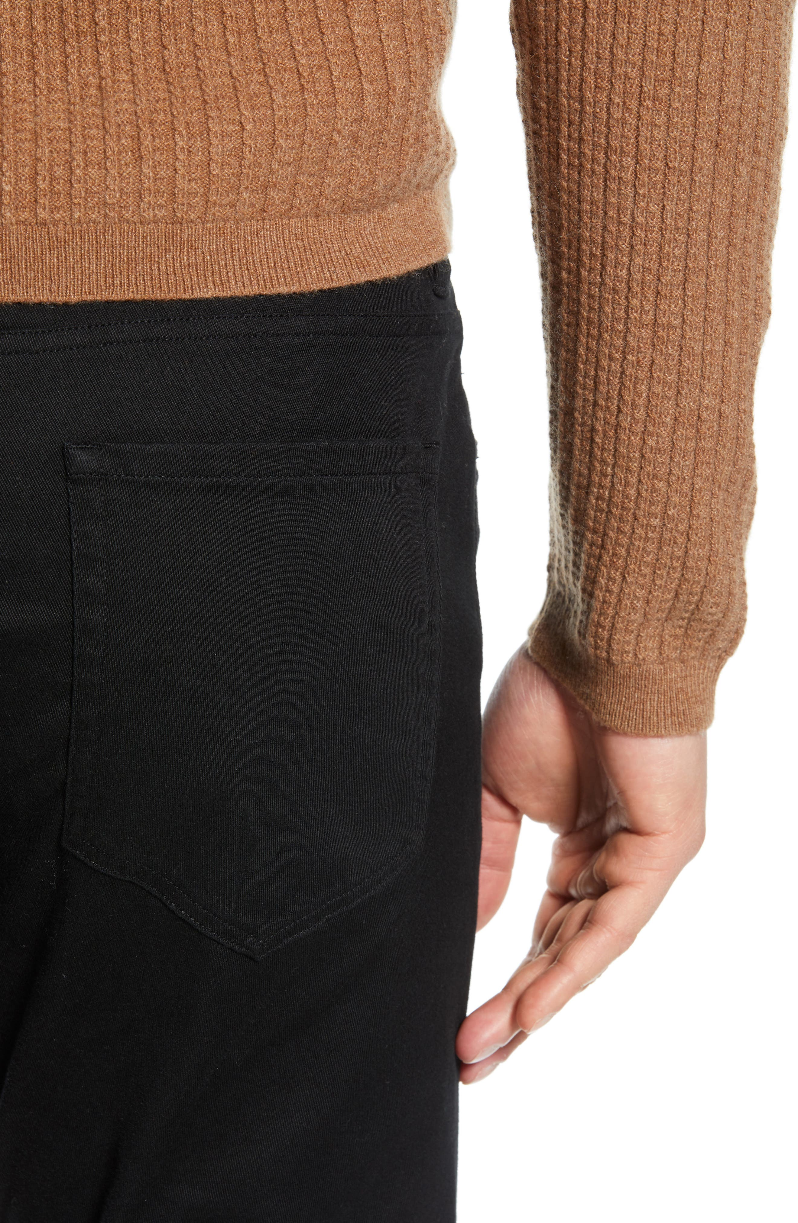 Slater Classic Fit Chinos,                             Alternate thumbnail 4, color,                             BLACK