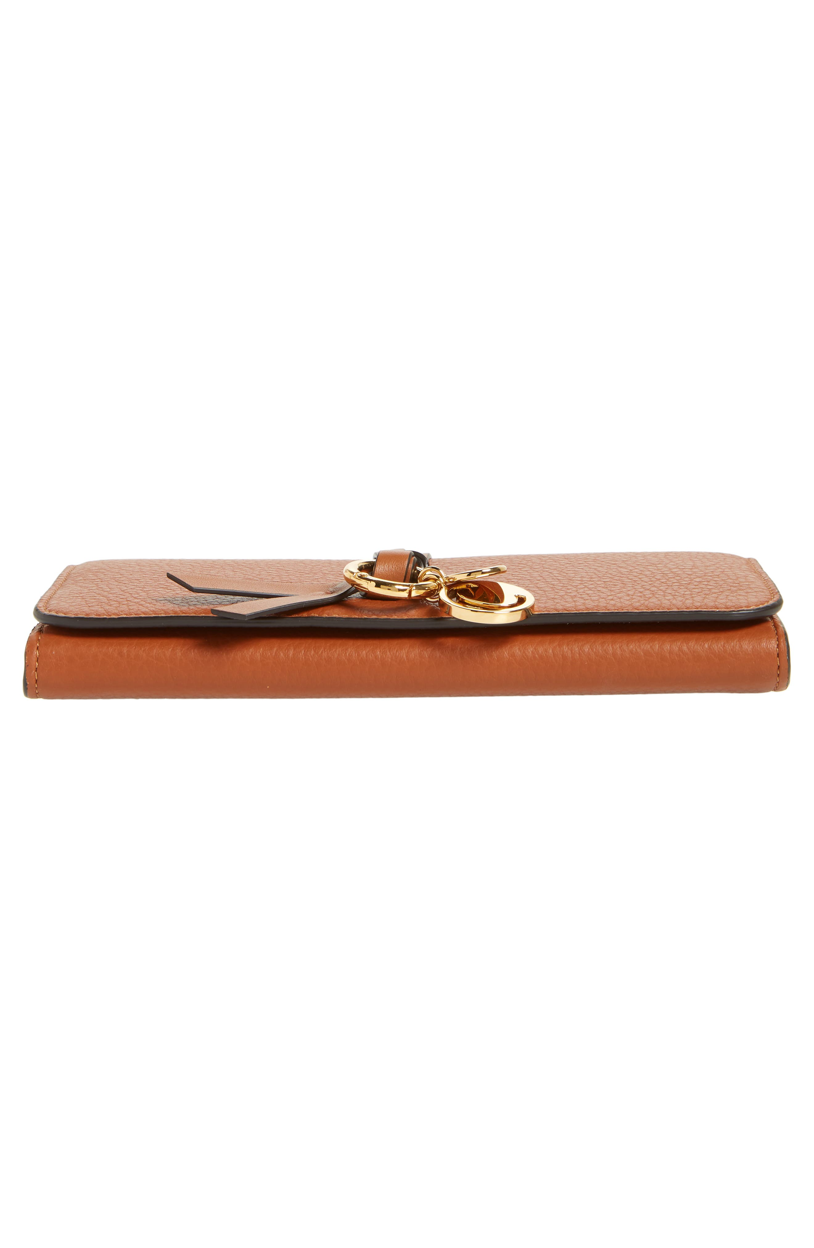 Alphabet Leather Wallet,                             Alternate thumbnail 6, color,                             TAN