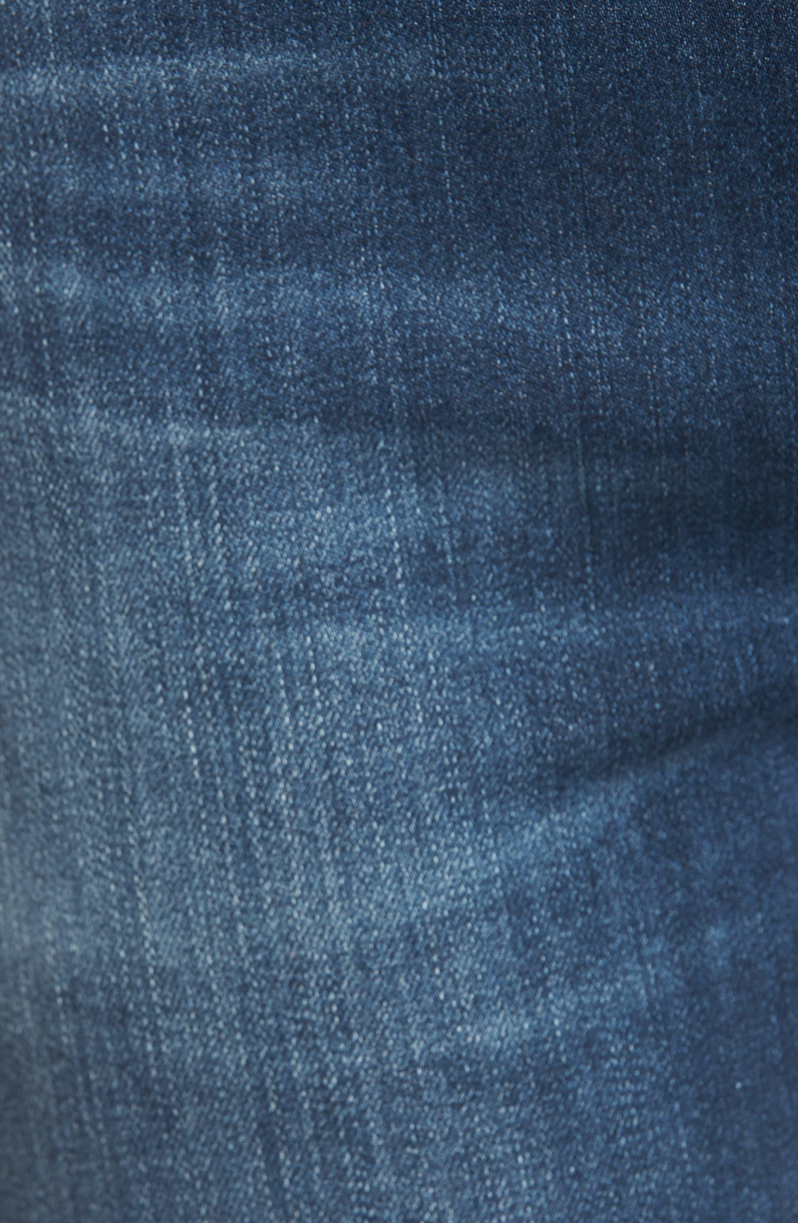 Rocket Split Hem Ankle Skinny Jeans,                             Alternate thumbnail 5, color,                             402