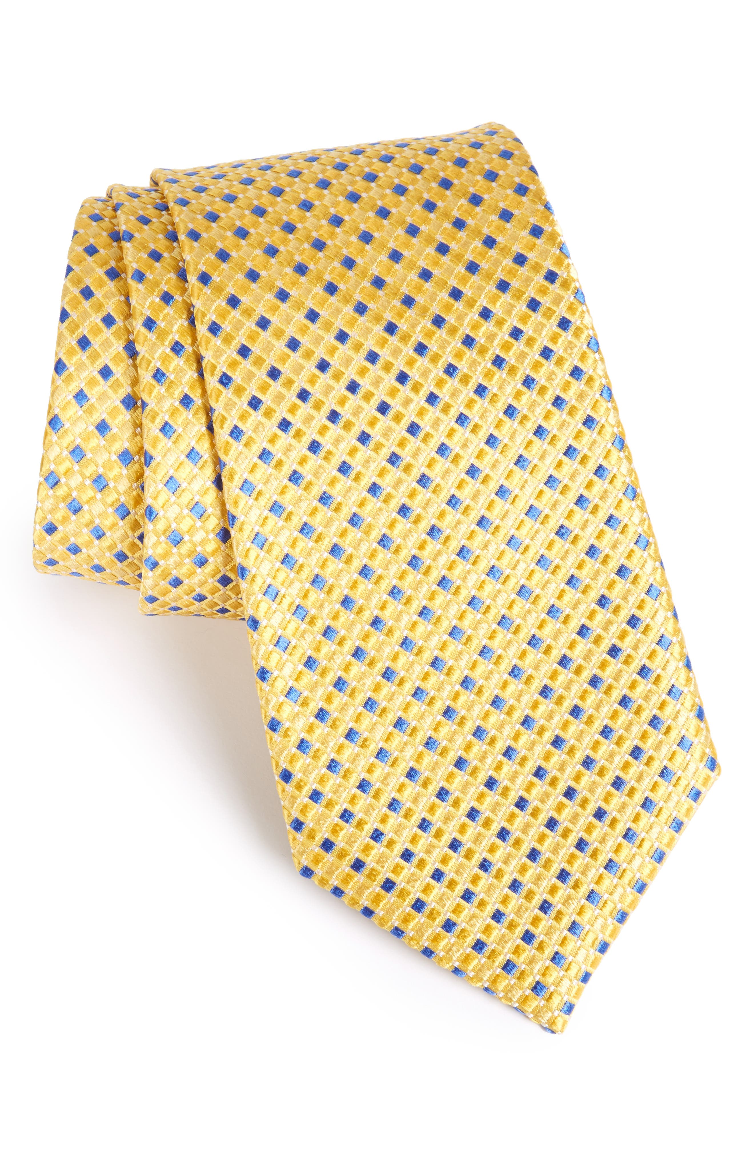 Geo Pattern Silk Tie,                             Alternate thumbnail 20, color,