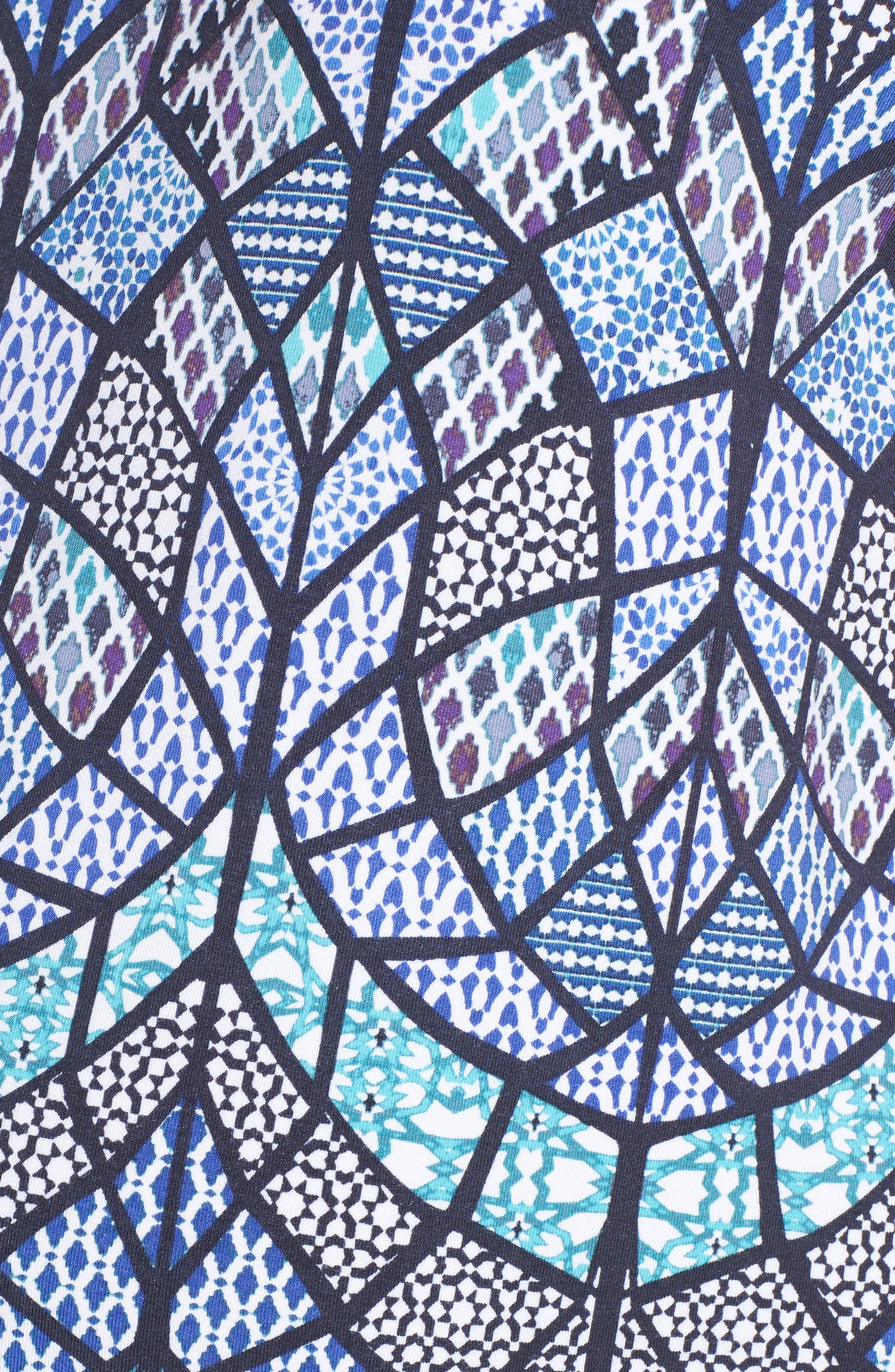 Caia Cold Shoulder Maternity Dress,                             Alternate thumbnail 5, color,                             TILE MOSAIC
