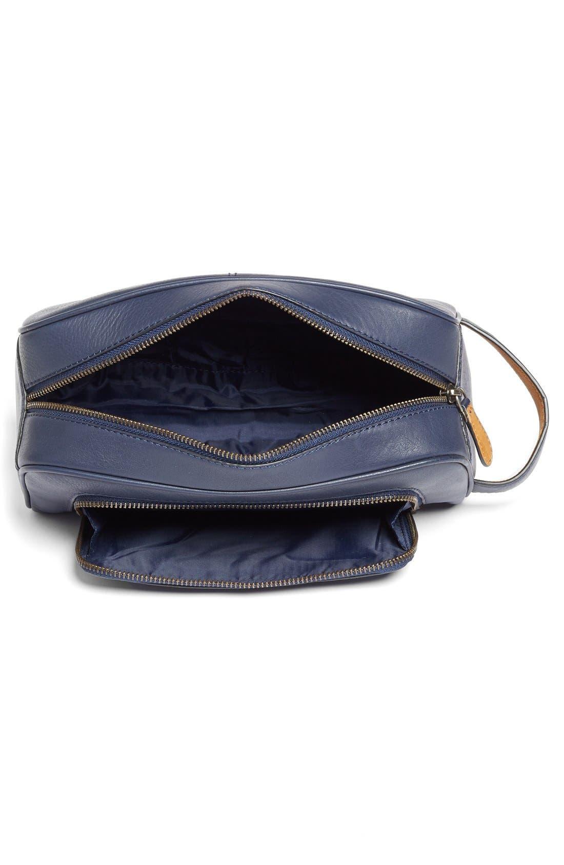 'Footsy' Leather Travel Kit,                             Alternate thumbnail 2, color,                             410