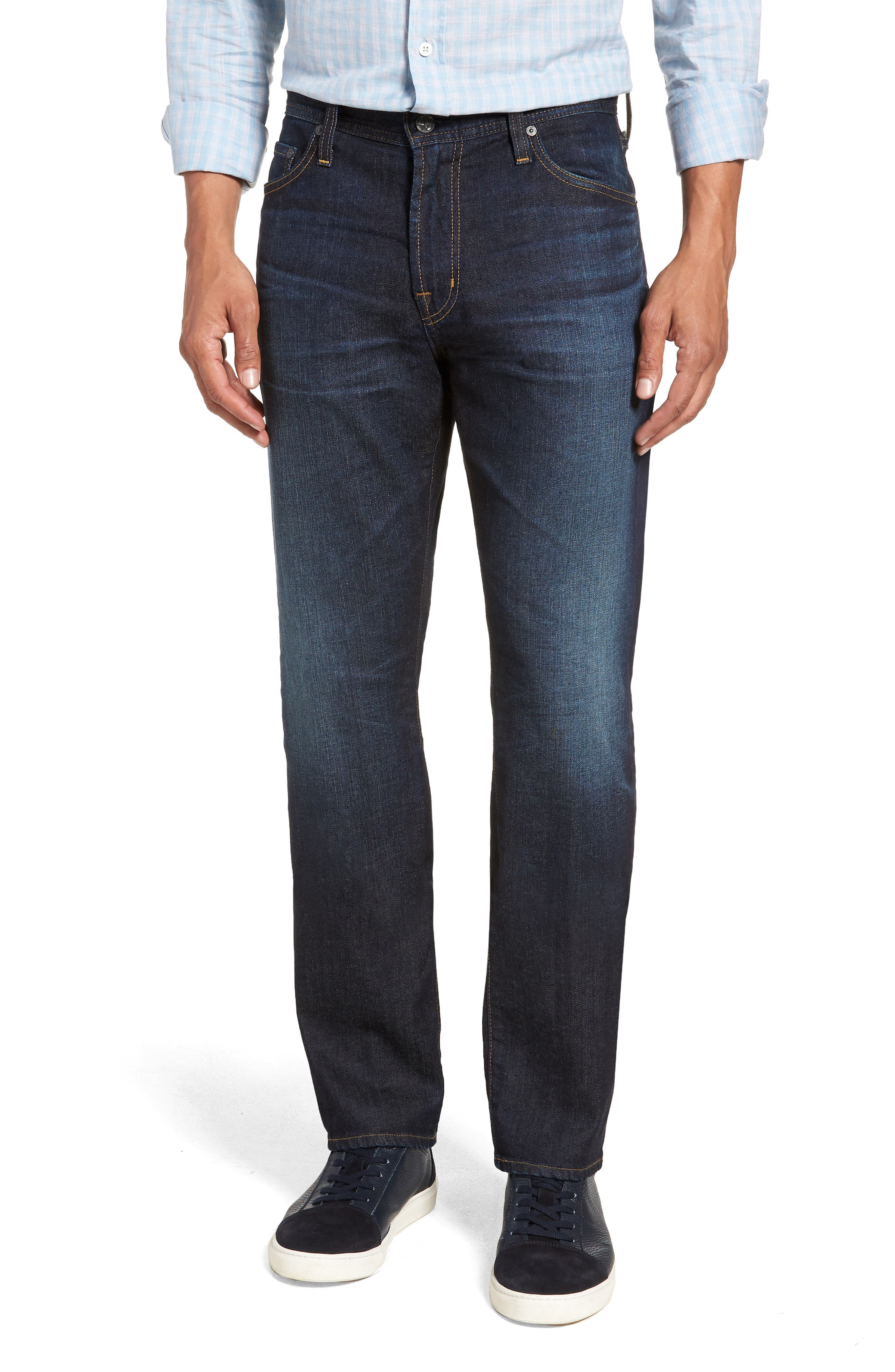 Everett Slim Straight Leg Jeans,                             Main thumbnail 1, color,                             5 YEARS CASINO
