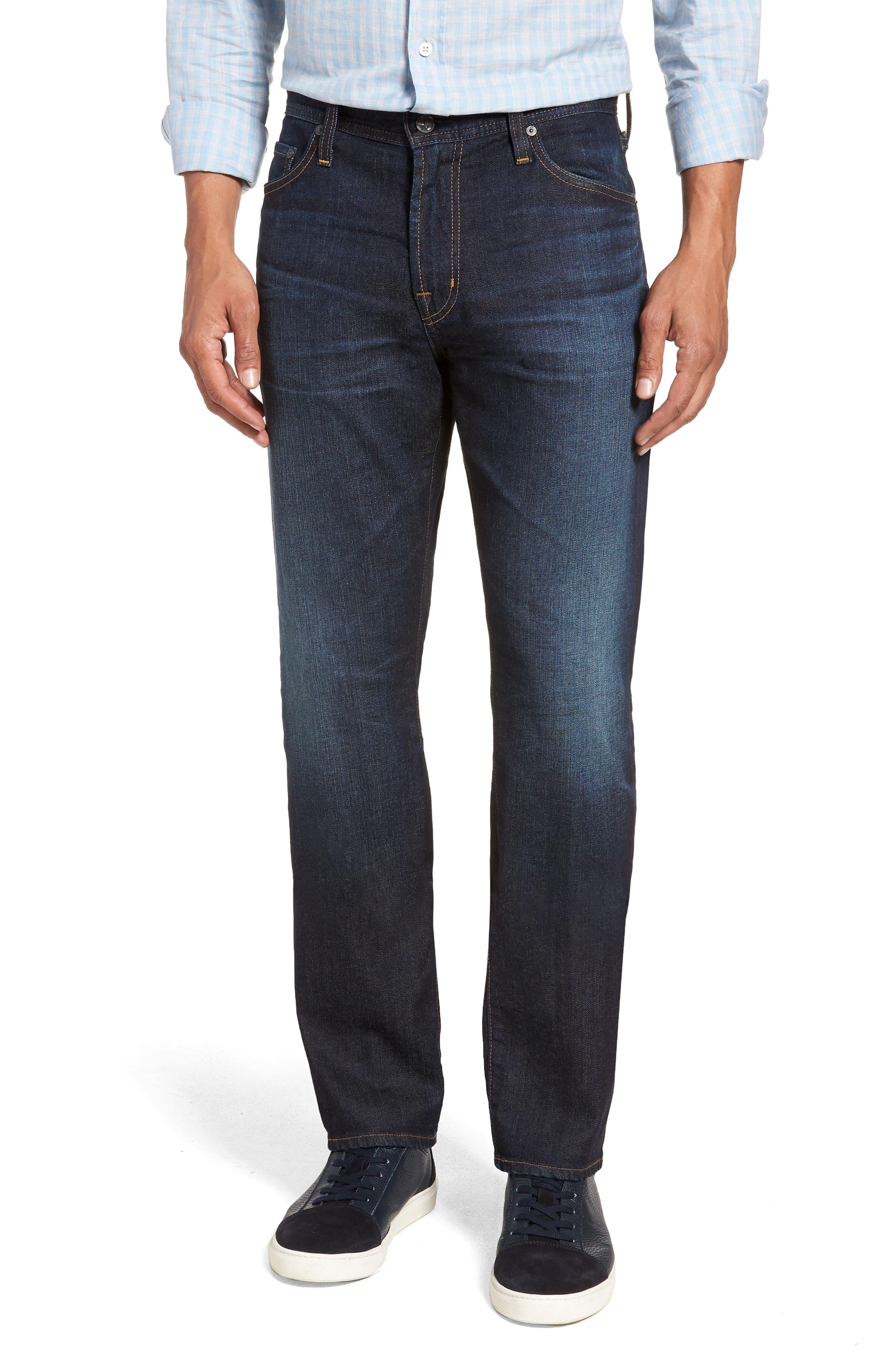 Everett Slim Straight Leg Jeans,                         Main,                         color, 5 YEARS CASINO