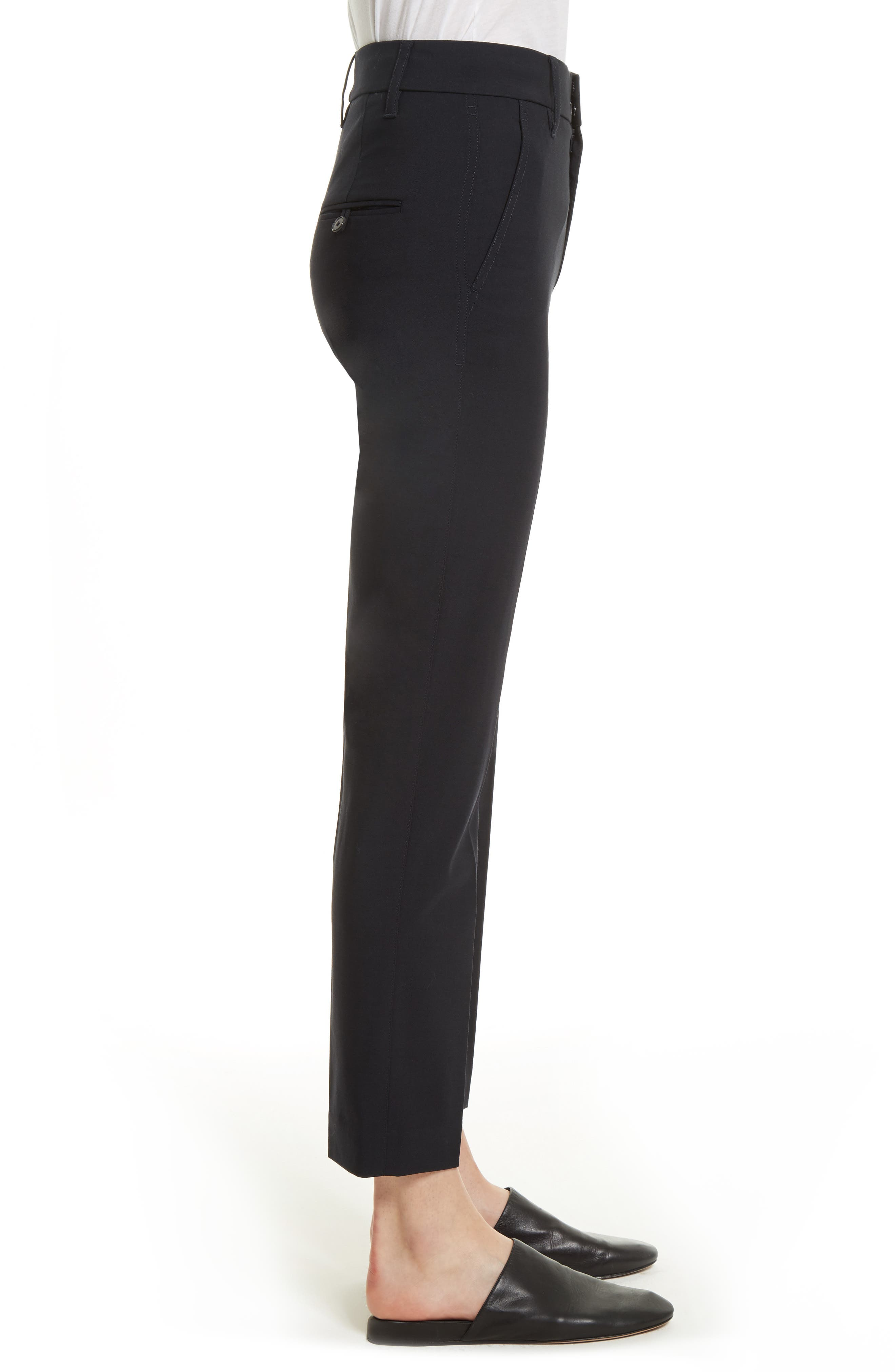 Tapered Ankle Trousers,                             Alternate thumbnail 3, color,                             COASTAL
