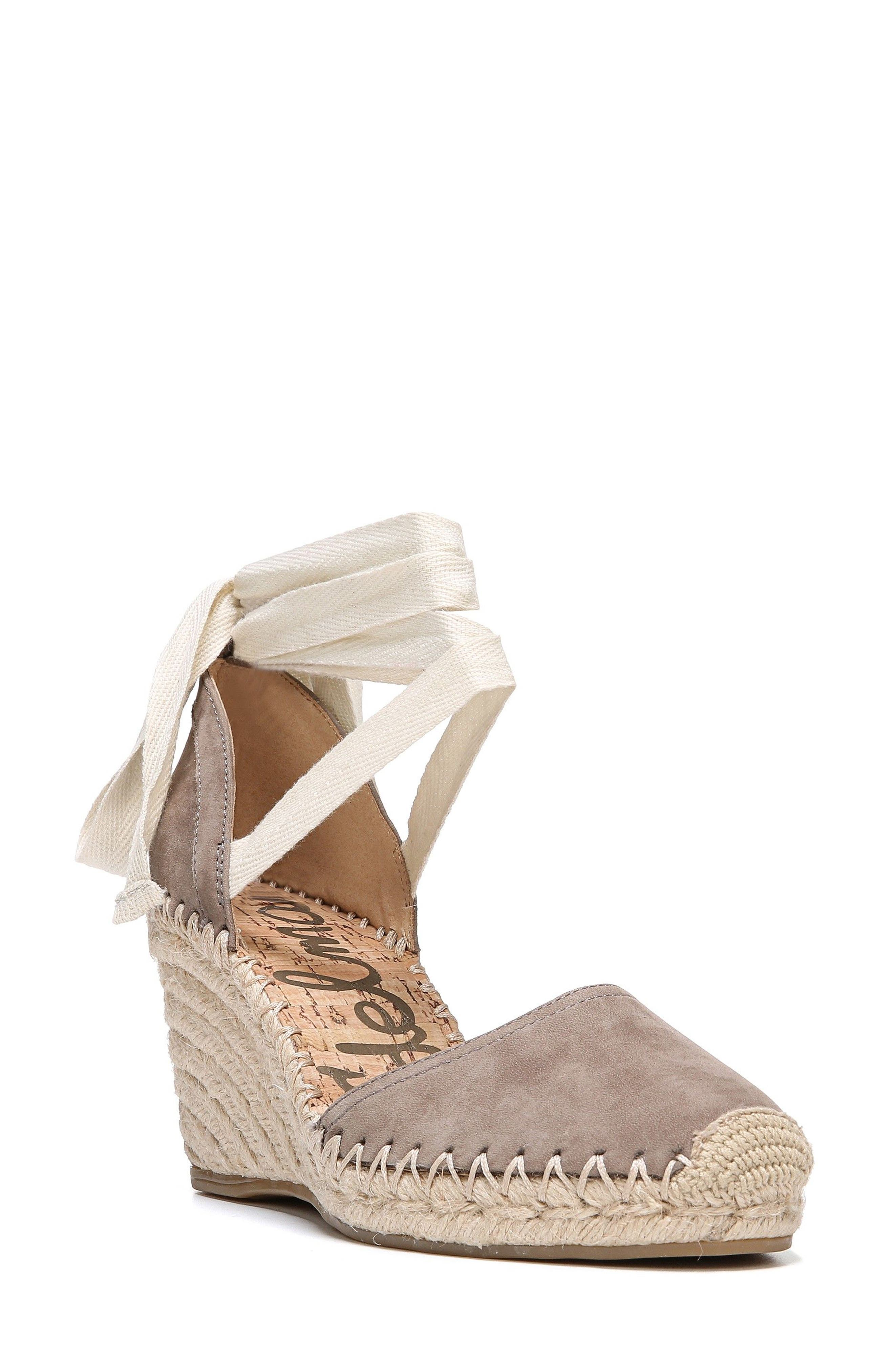 Patsy Wraparound Espadrille Wedge,                             Main thumbnail 1, color,                             020
