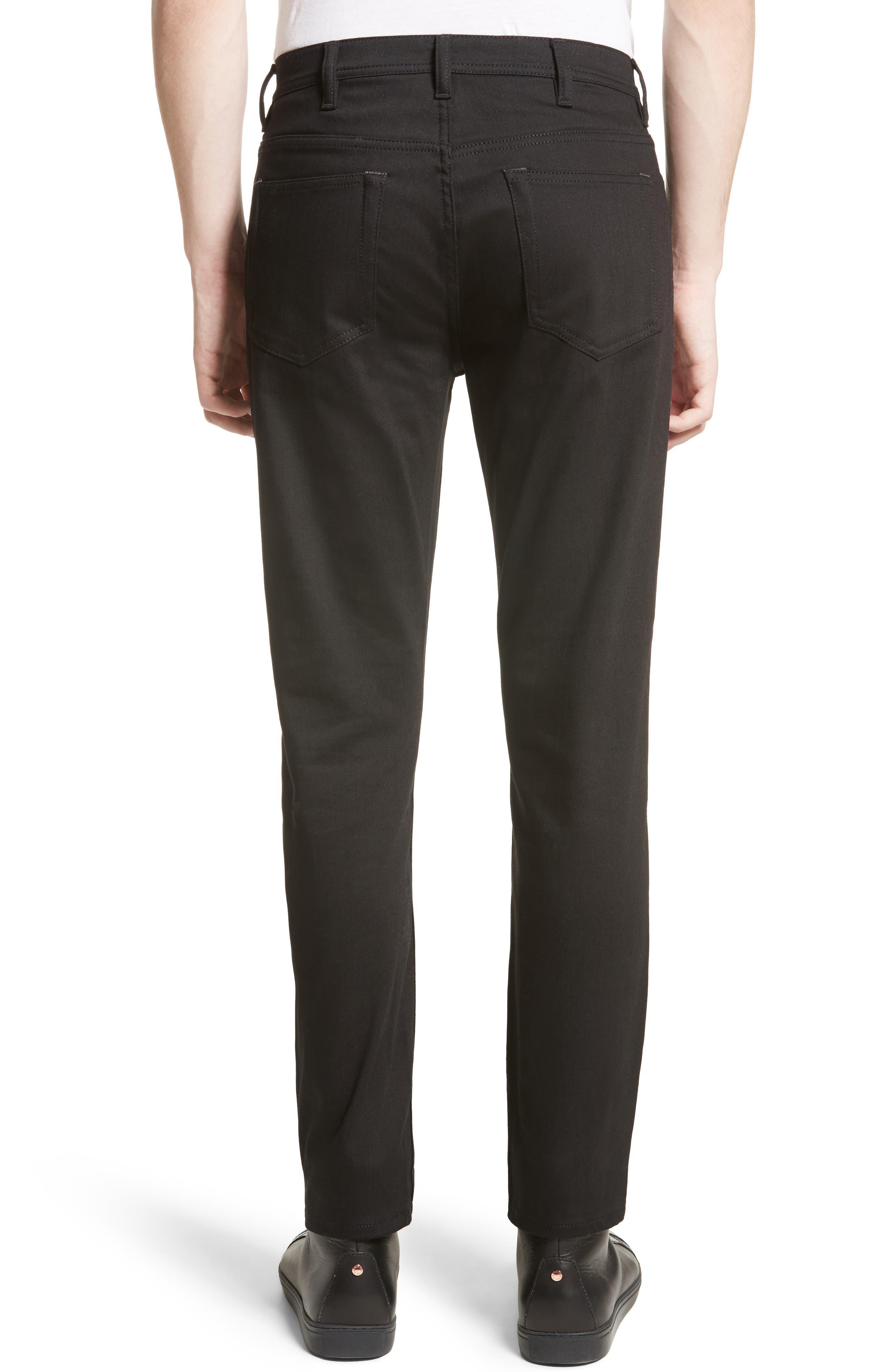 River Slim Taper Jeans,                             Alternate thumbnail 2, color,                             BLACK