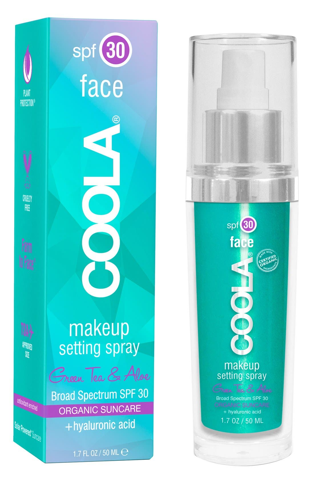 COOLA<sup>®</sup> Suncare Classic Face Makeup Setting Spray SPF30,                             Alternate thumbnail 2, color,                             000
