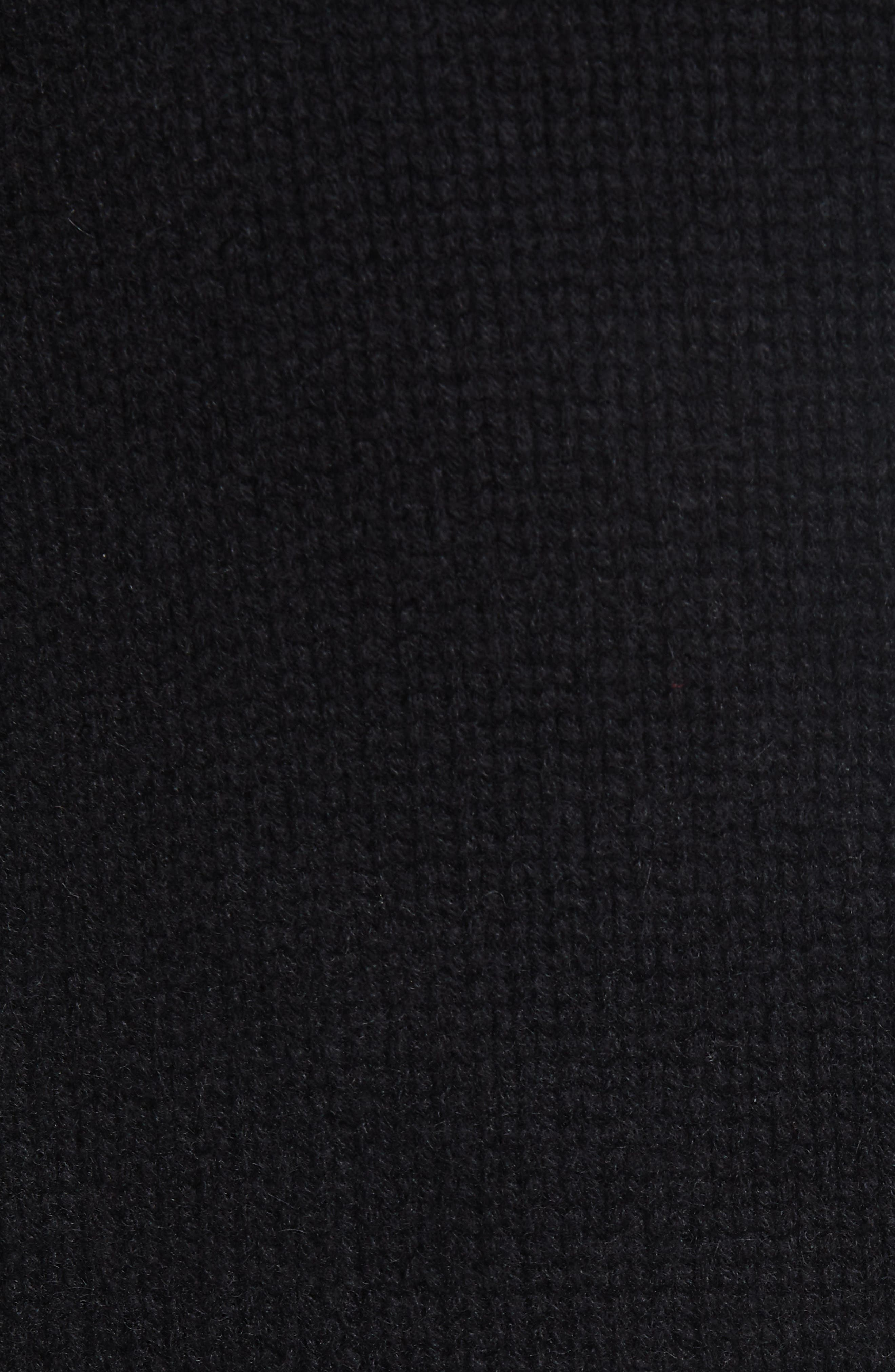 Relaxed Cashmere Sweater,                             Alternate thumbnail 5, color,                             BLACK