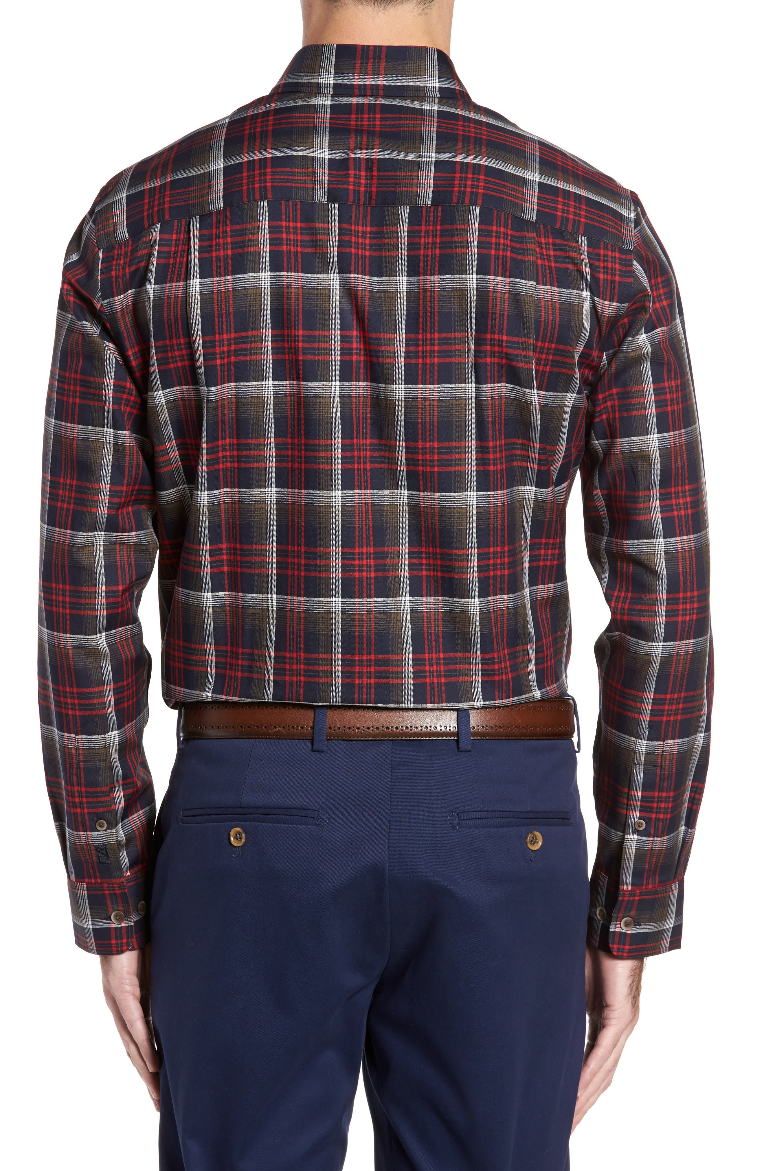 Dry Creek Non-Iron Plaid Sport Shirt,                             Alternate thumbnail 2, color,                             622