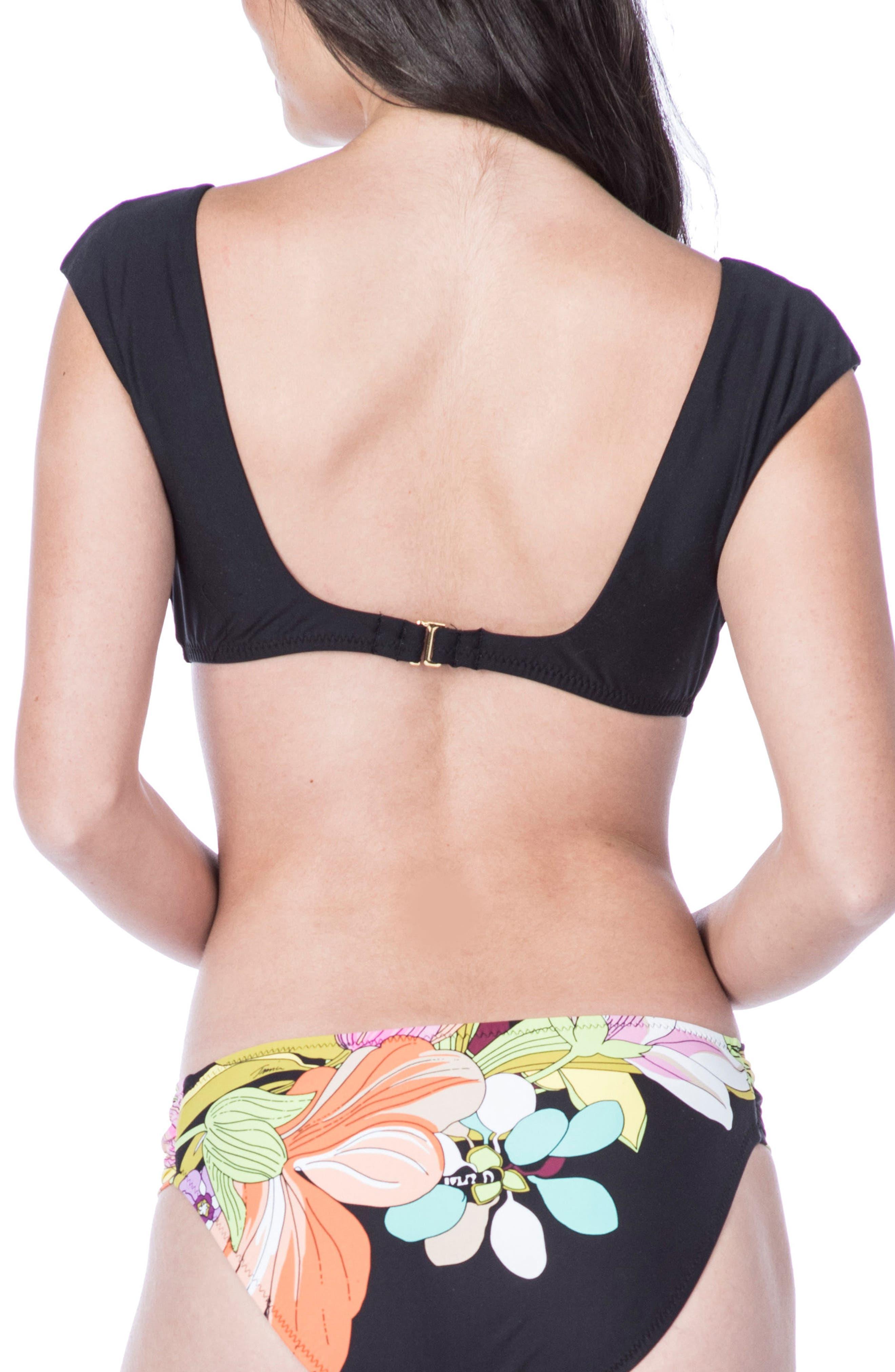 Bouquet Floral Bikini Top,                             Alternate thumbnail 2, color,