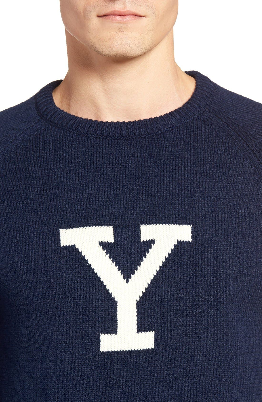 Yale Heritage Sweater,                             Alternate thumbnail 4, color,                             400