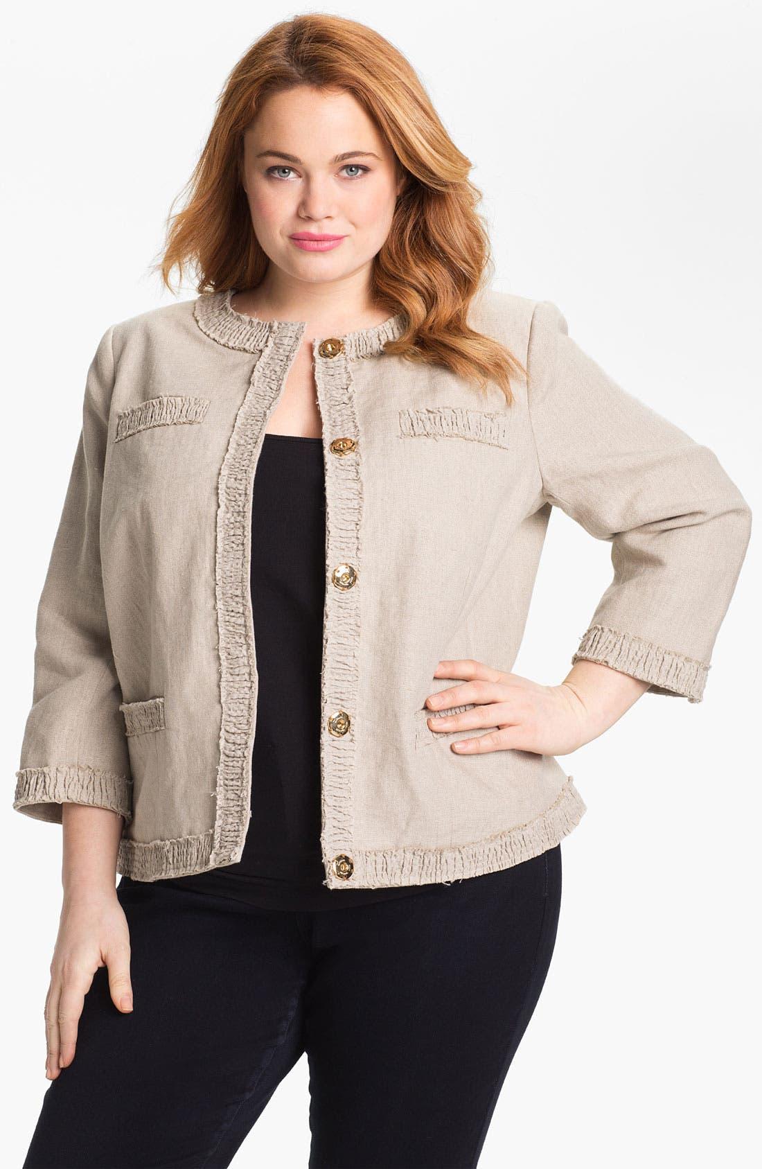 Linen Jacket,                             Main thumbnail 1, color,