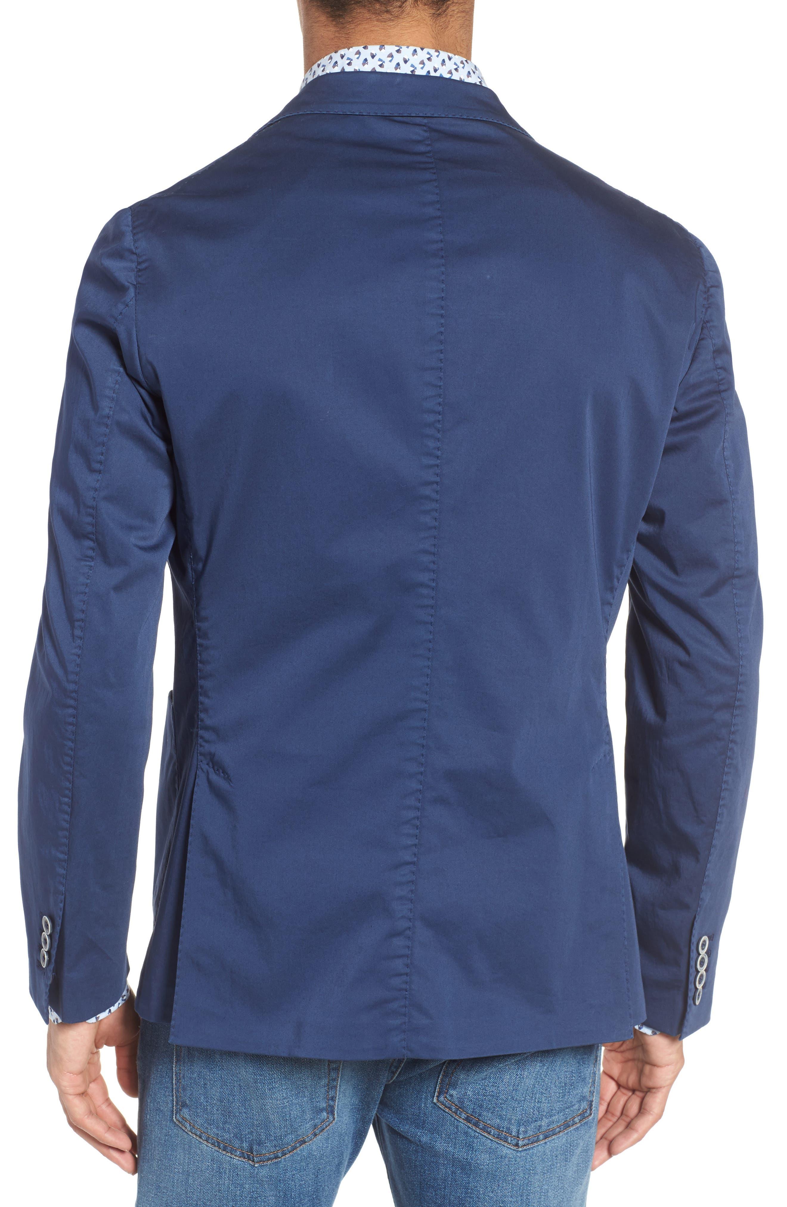 Trim Fit Stretch Cotton Blazer,                             Alternate thumbnail 2, color,                             400