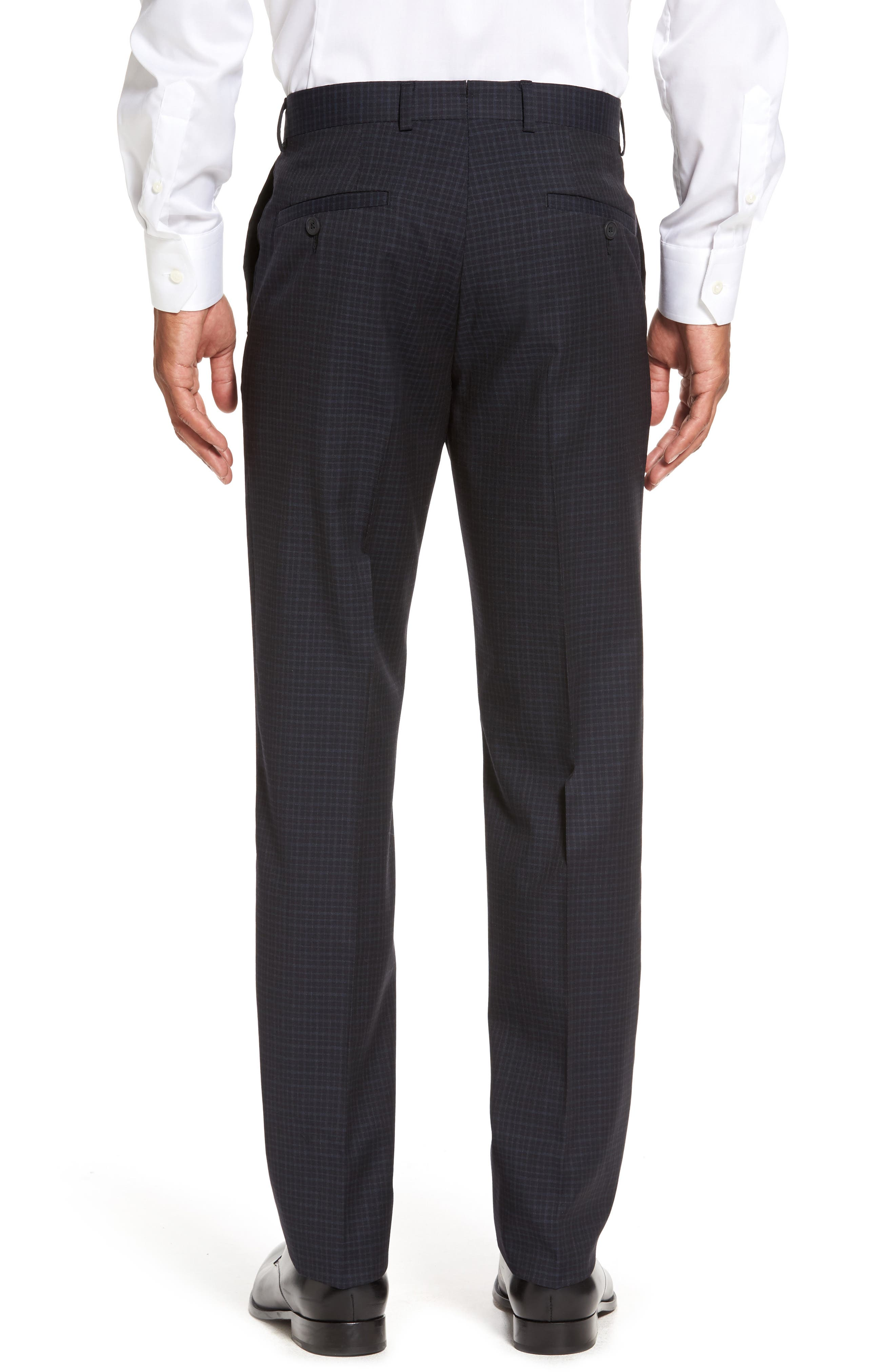 Flat Front Wool Trousers,                             Alternate thumbnail 6, color,