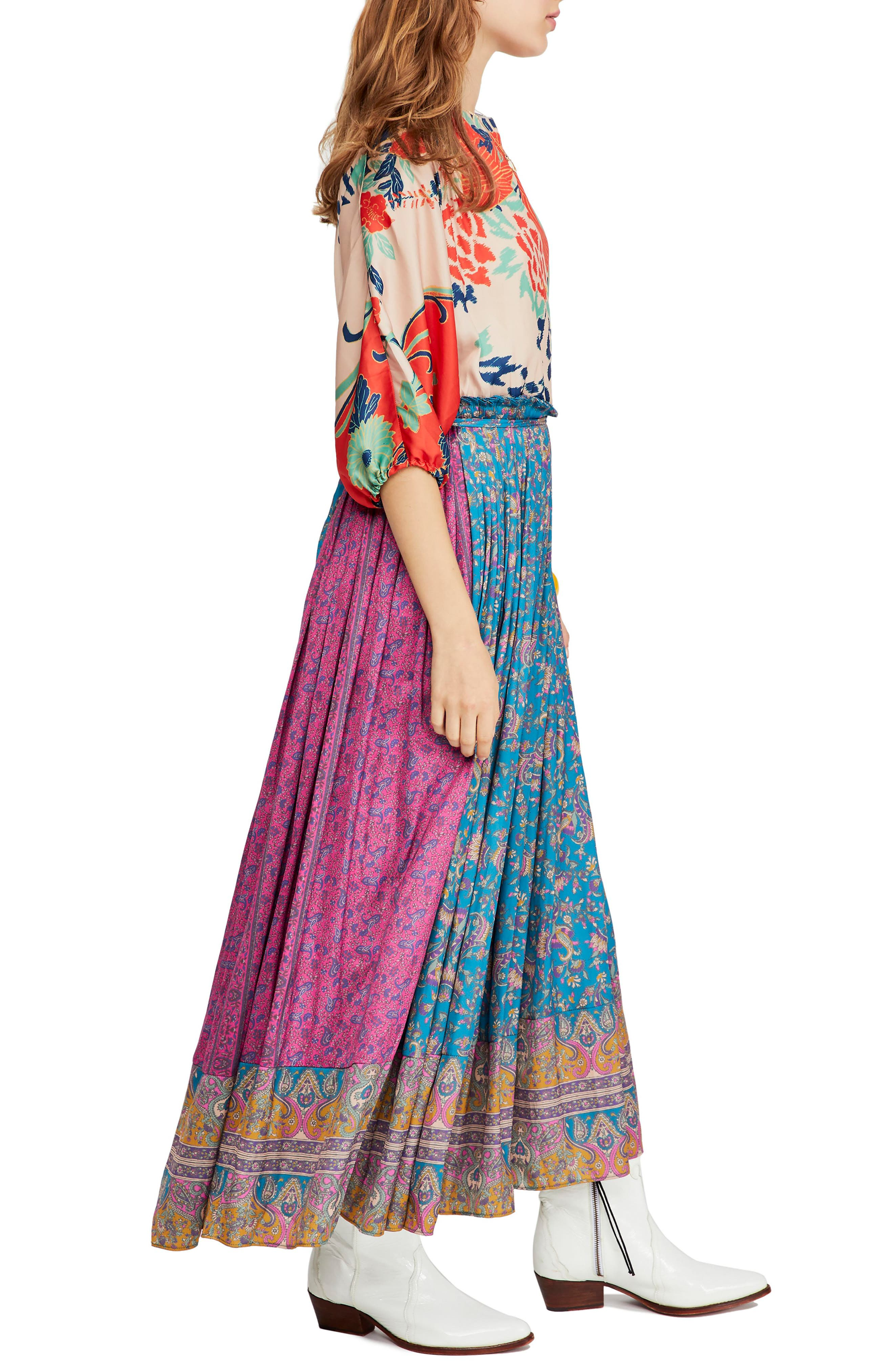 FREE PEOPLE,                             What You Want Maxi Dress,                             Alternate thumbnail 4, color,                             MULTI