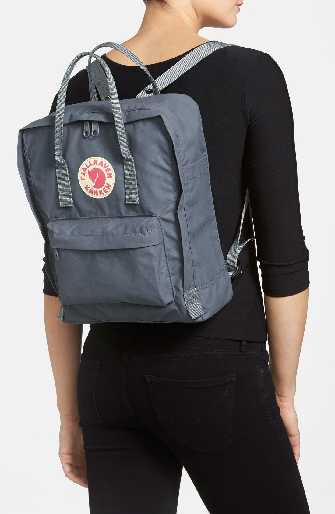 FJÄLLRÄVEN,                             Kånken Water Resistant Backpack,                             Alternate thumbnail 8, color,                             GRAPHITE