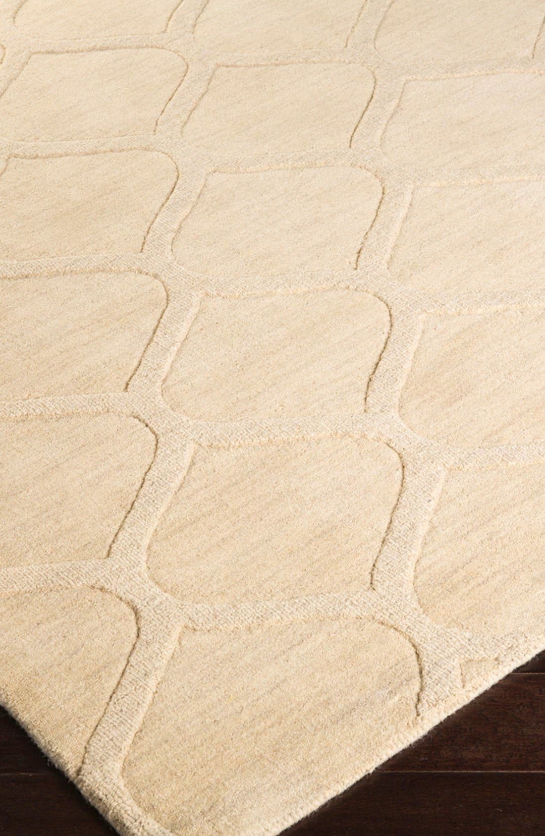 'Mystique' Hand Loomed Wool Rug,                             Alternate thumbnail 2, color,                             IVORY