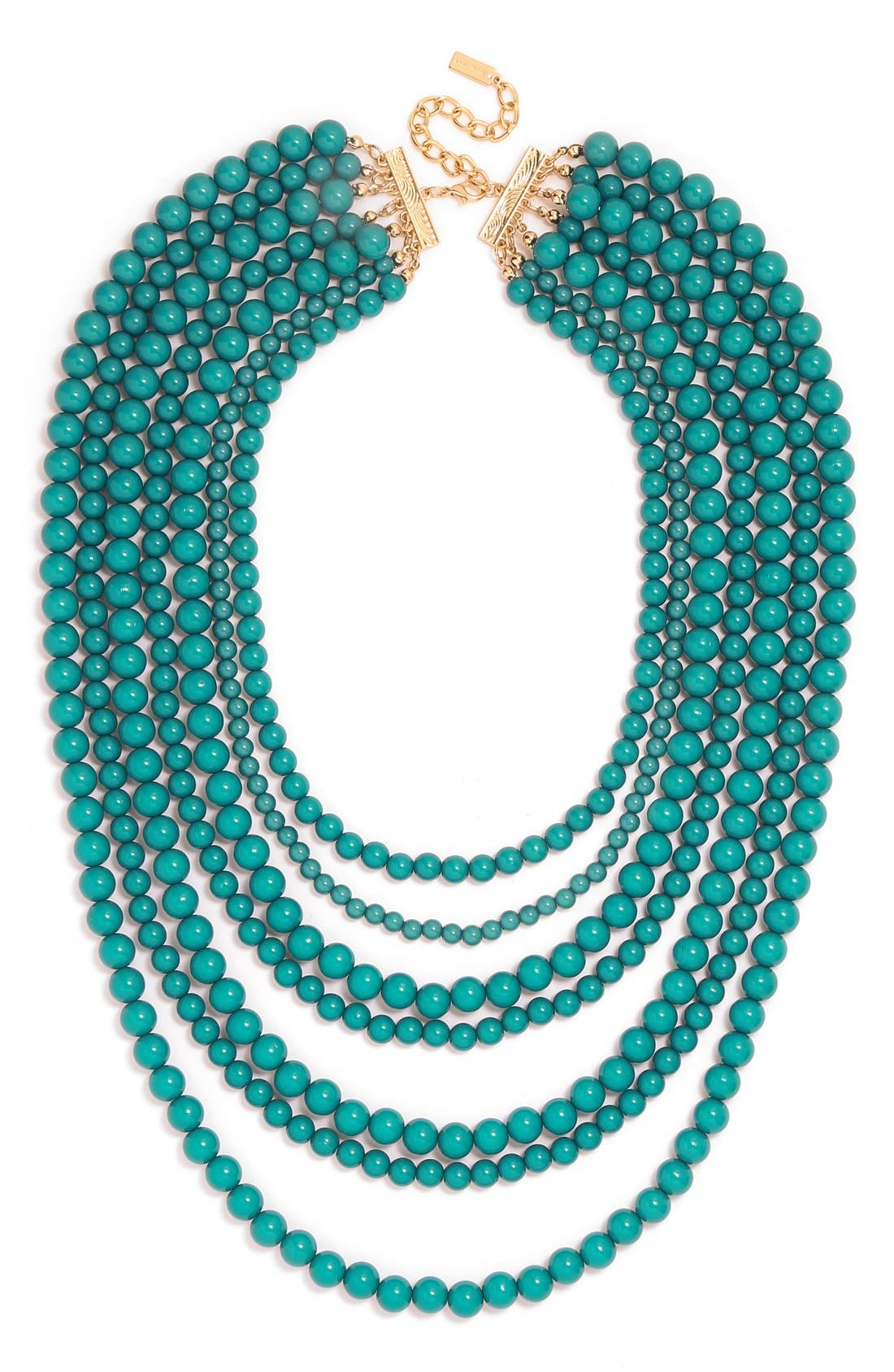 'Bold' Multistrand Beaded Statement Necklace,                             Main thumbnail 5, color,