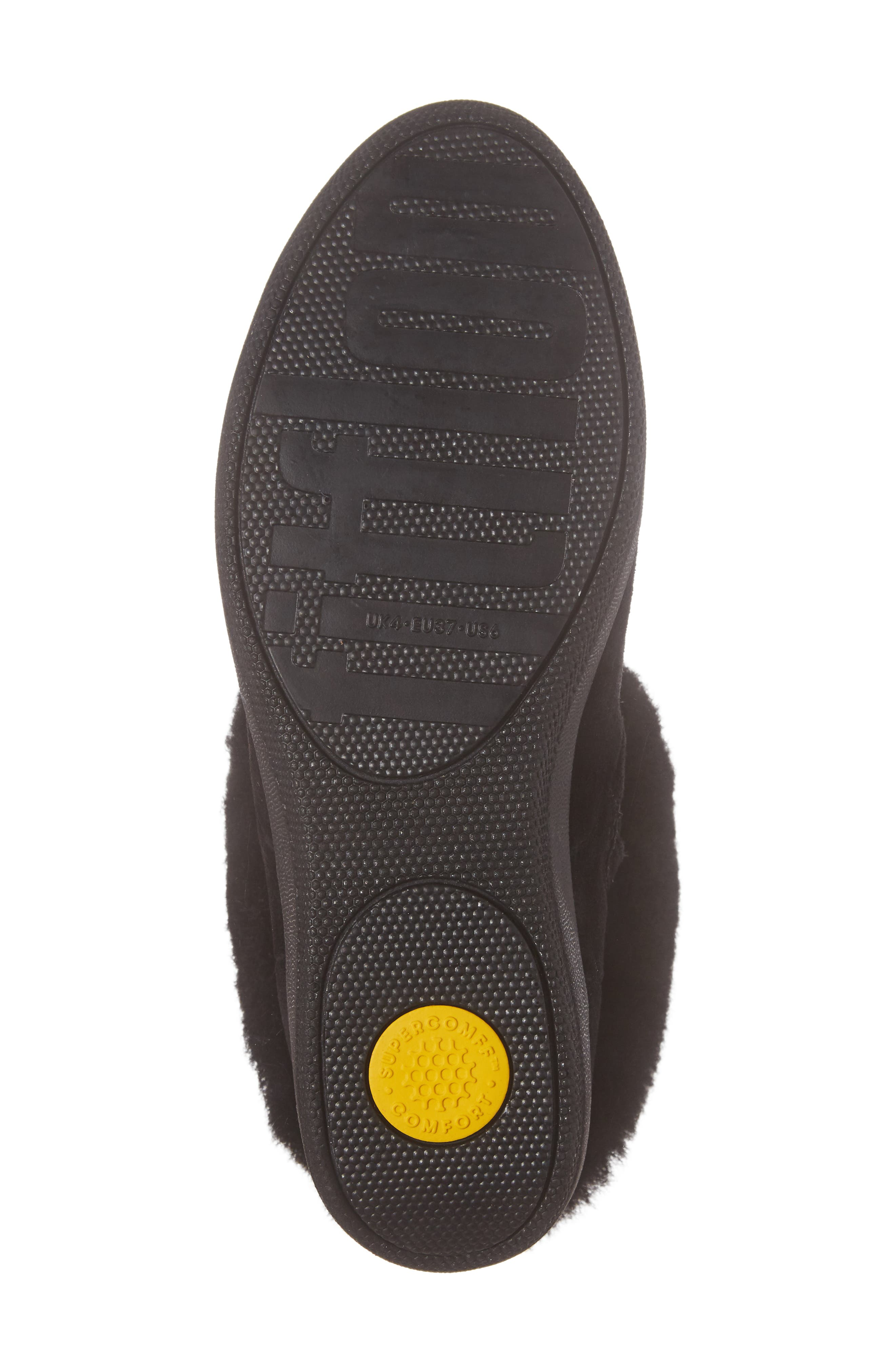 Skate Genuine Shearling Cuff Boot,                             Alternate thumbnail 6, color,                             001
