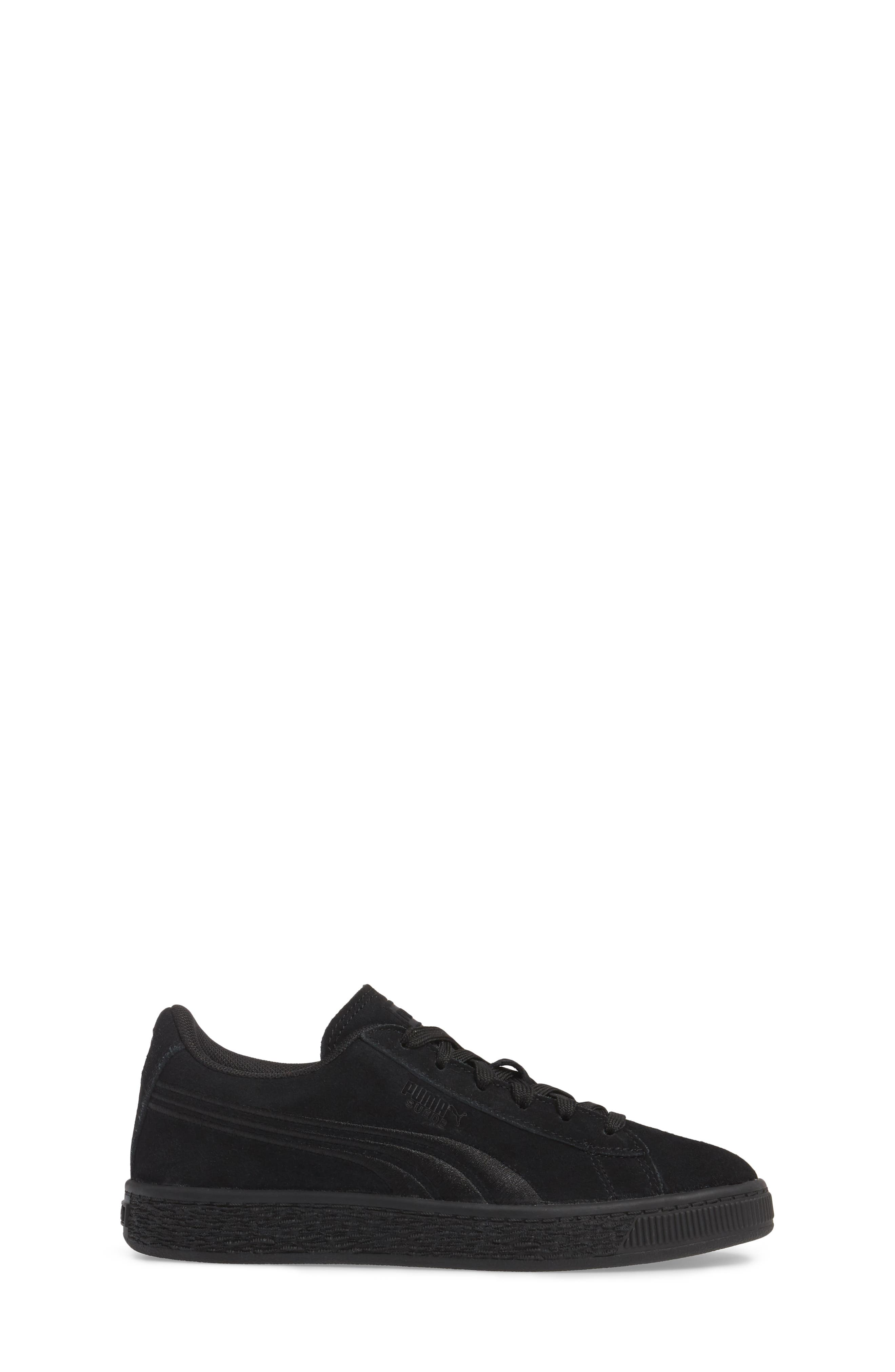 Suede Classic Badge PS Sneaker,                             Alternate thumbnail 3, color,                             001