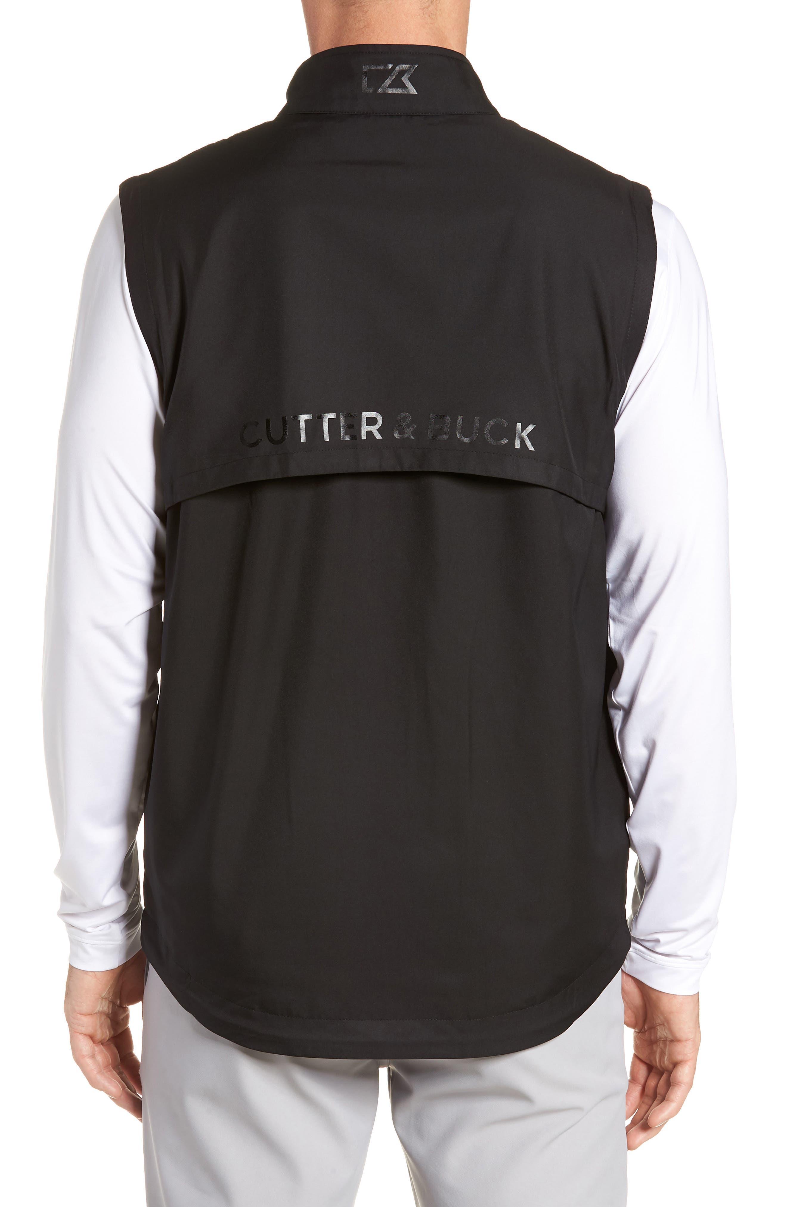 Nine Iron DryTec Zip Vest,                             Alternate thumbnail 2, color,                             BLACK