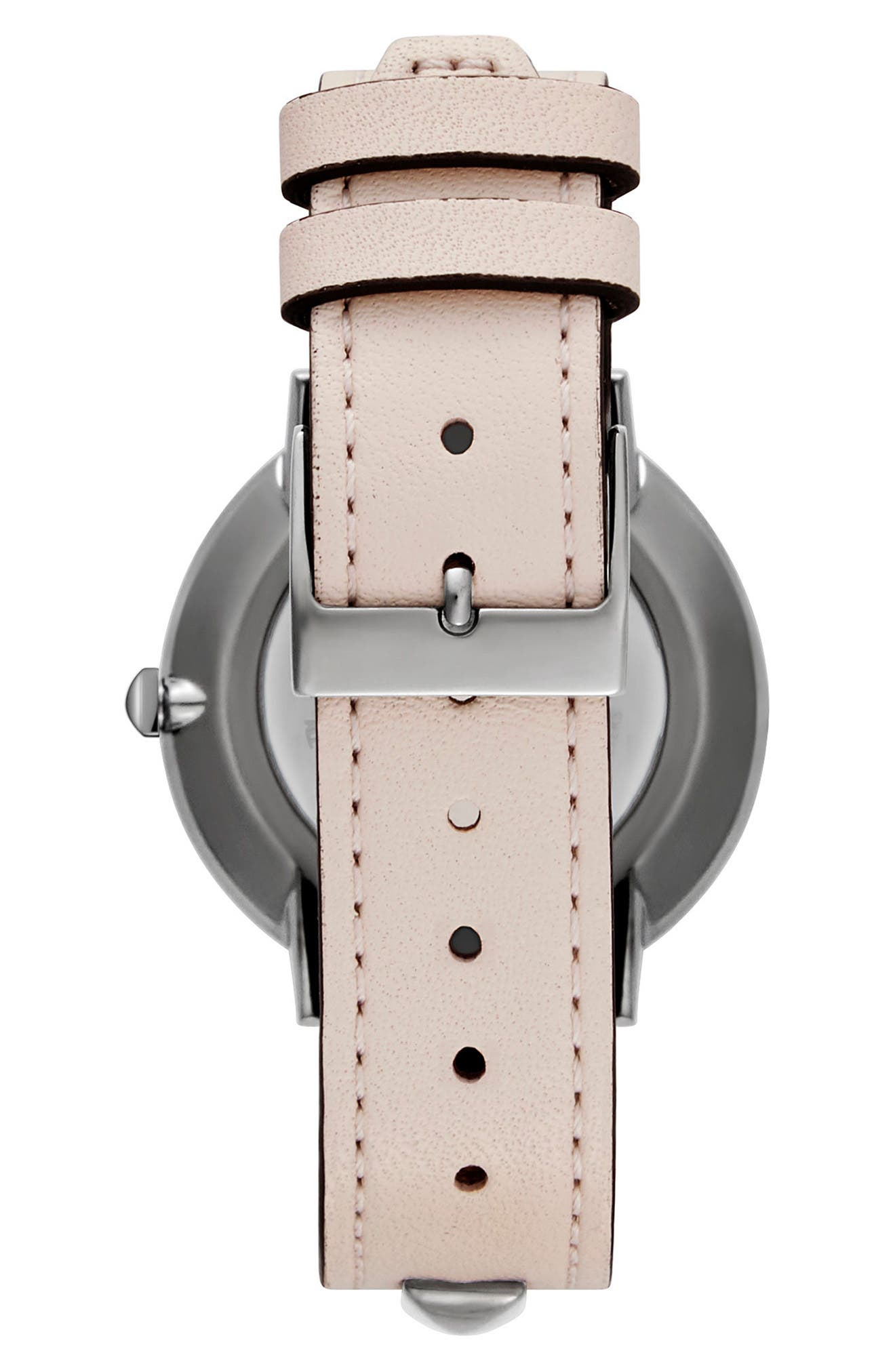 Major Stud Leather Strap Watch, 35mm,                             Alternate thumbnail 2, color,                             SOFT BLUSH/ GUNMETAL