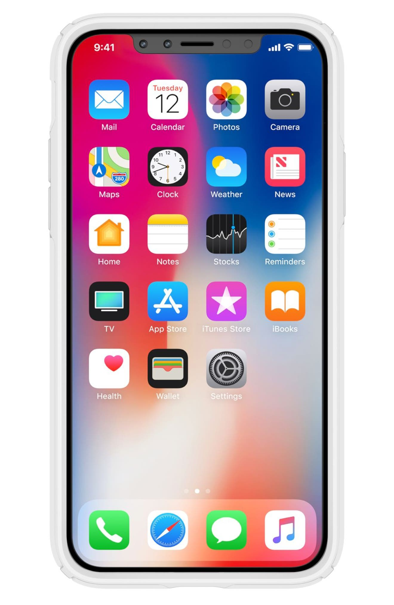Transparent iPhone X & Xs Case,                             Alternate thumbnail 3, color,                             CLEAR/ BRIGHT WHITE