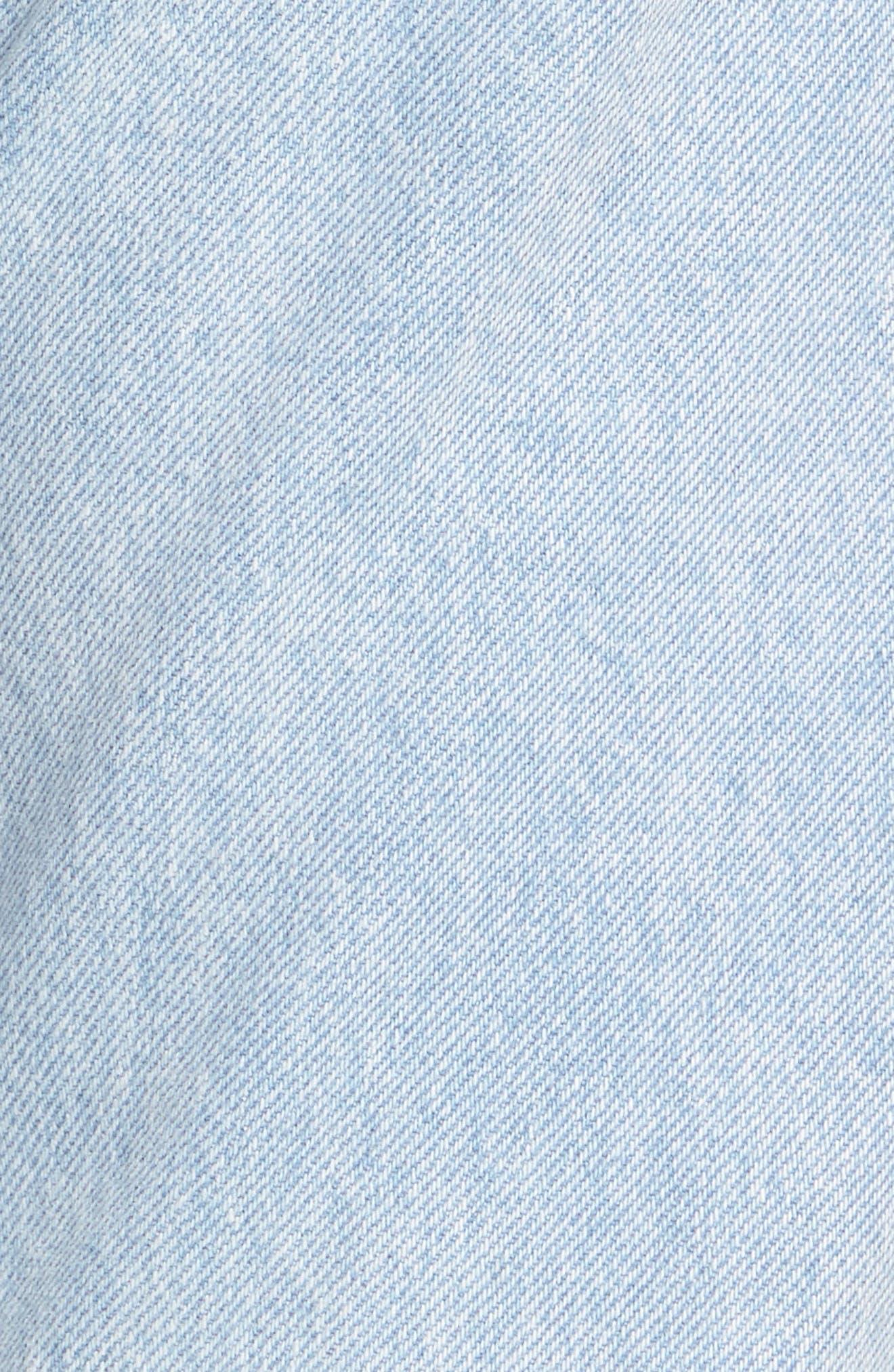 Wedgie High Waist Crop Jeans,                             Alternate thumbnail 5, color,                             450