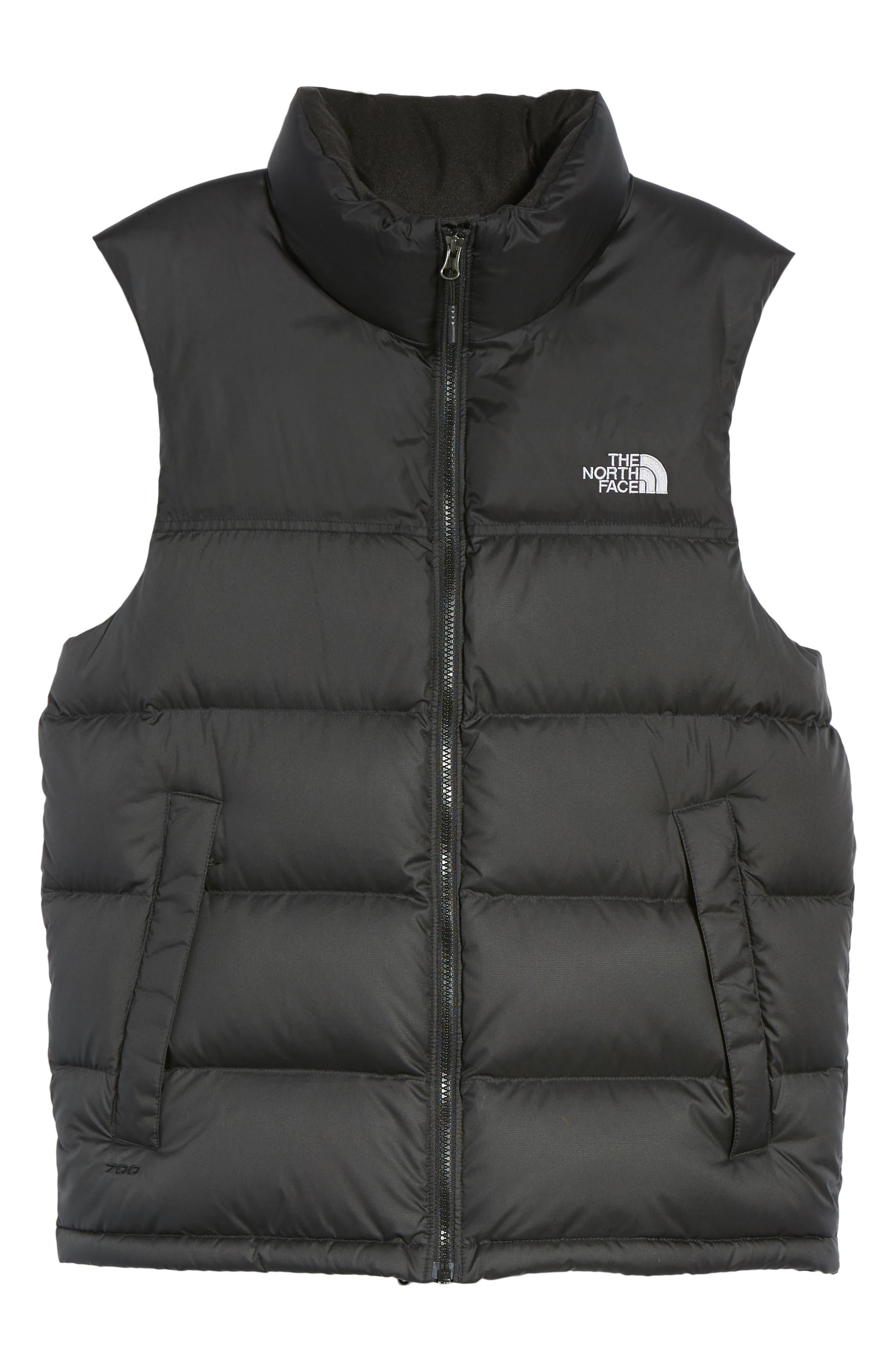 Nuptse Water Repellent Down Vest,                             Alternate thumbnail 5, color,                             001