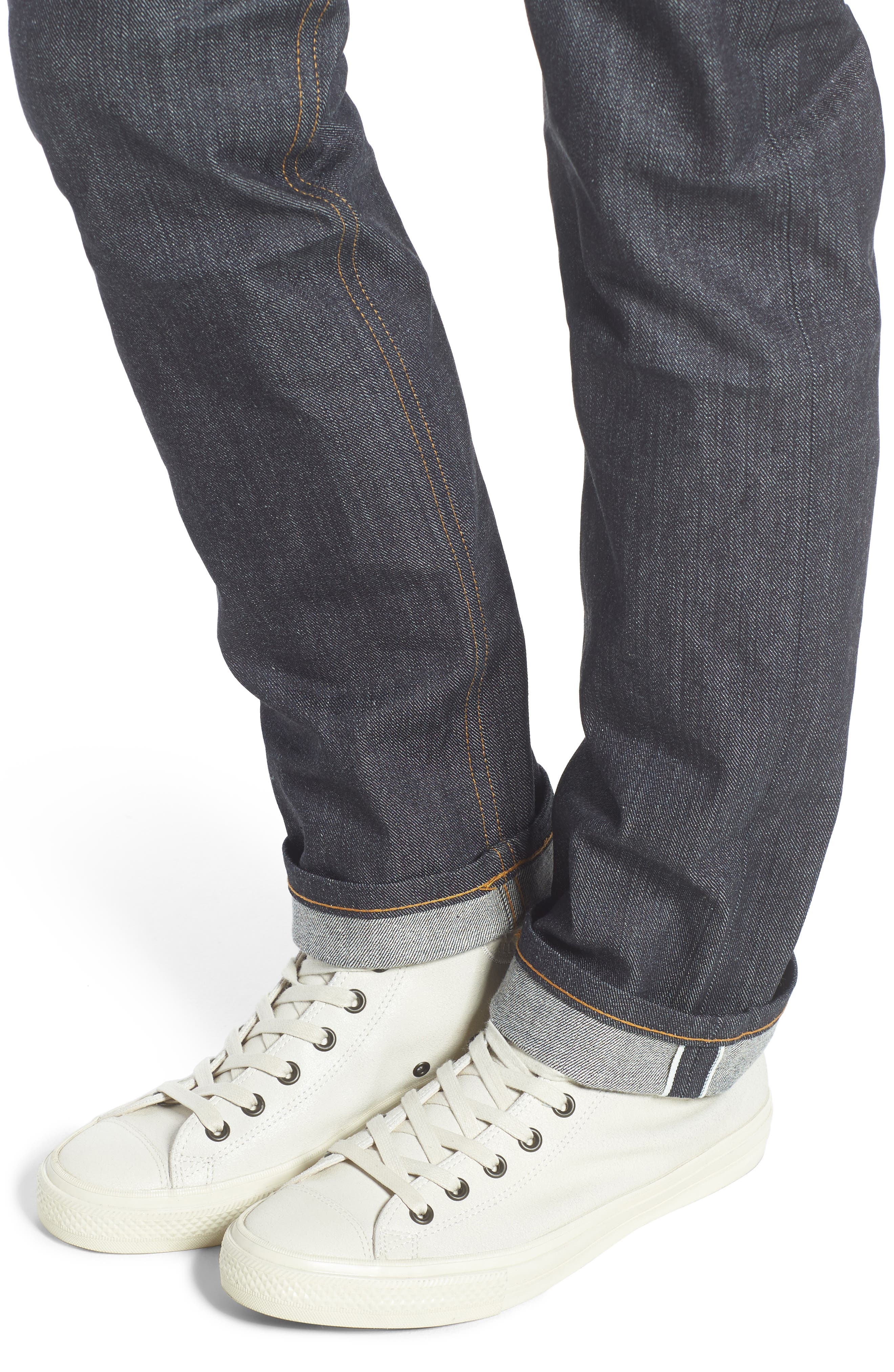 Weird Guy Slim Fit Jeans,                             Alternate thumbnail 5, color,                             LEFT HAND TWILL SELVEDGE