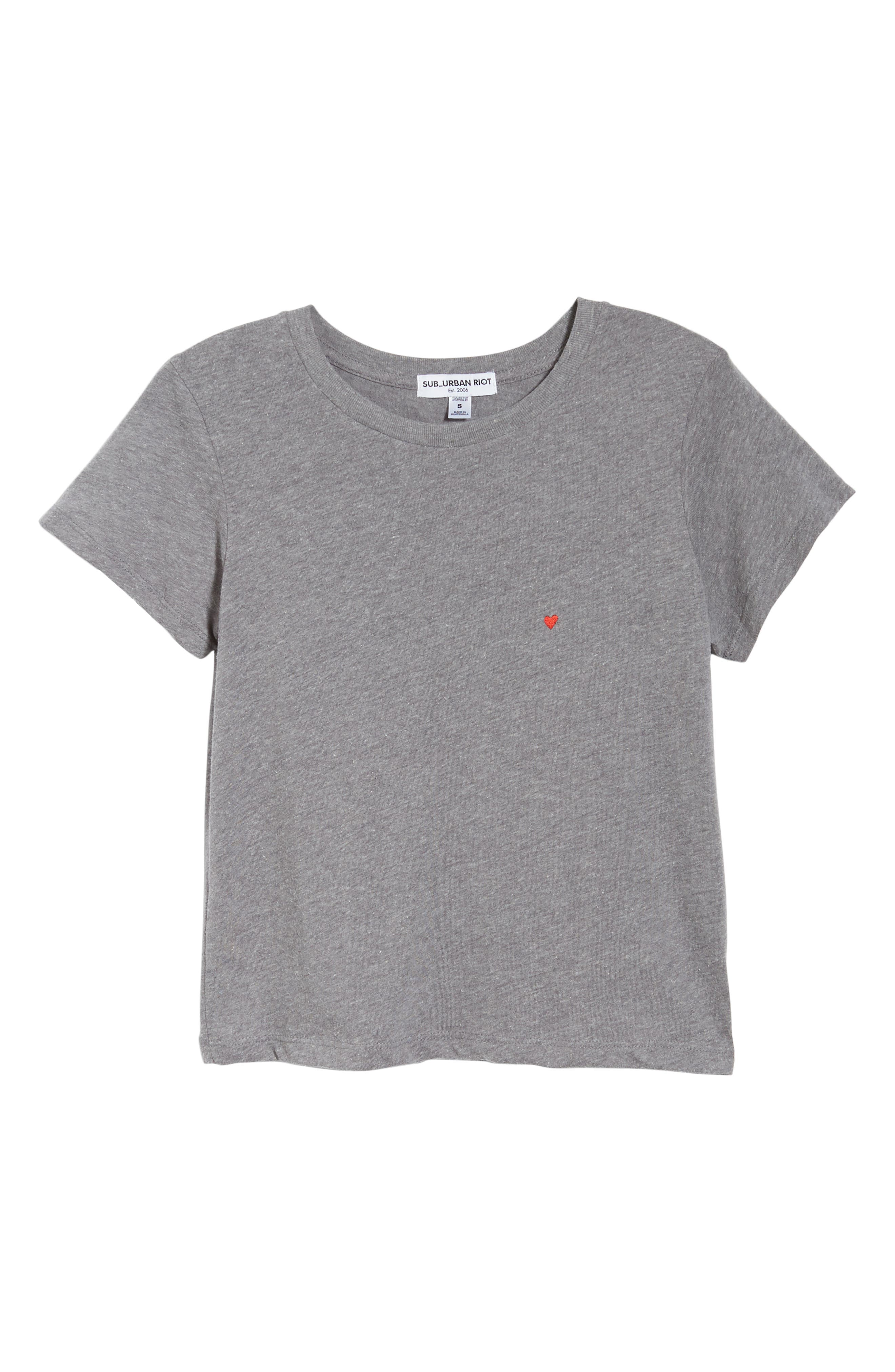 Embroidered Heart Tee,                             Alternate thumbnail 11, color,