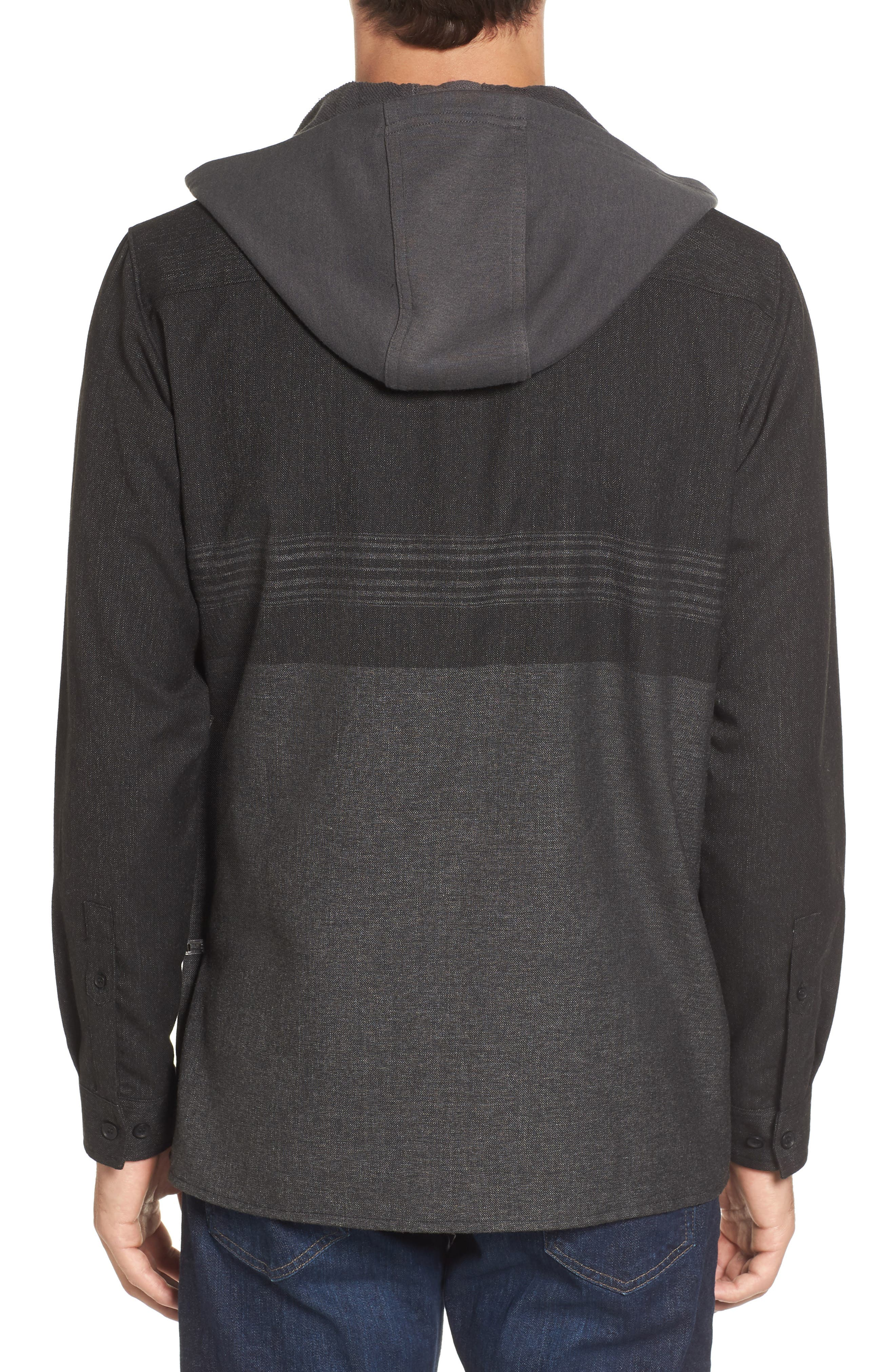 Jacinto Hooded Flannel Shirt,                             Alternate thumbnail 2, color,                             001